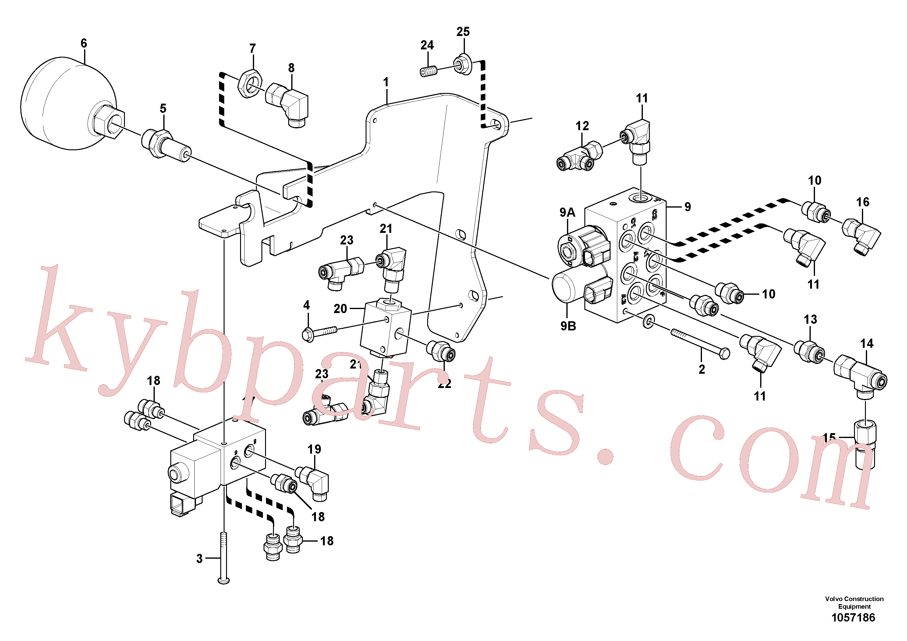RM59922807 for Volvo Low pressure hydraulic valves(1057186 assembly)