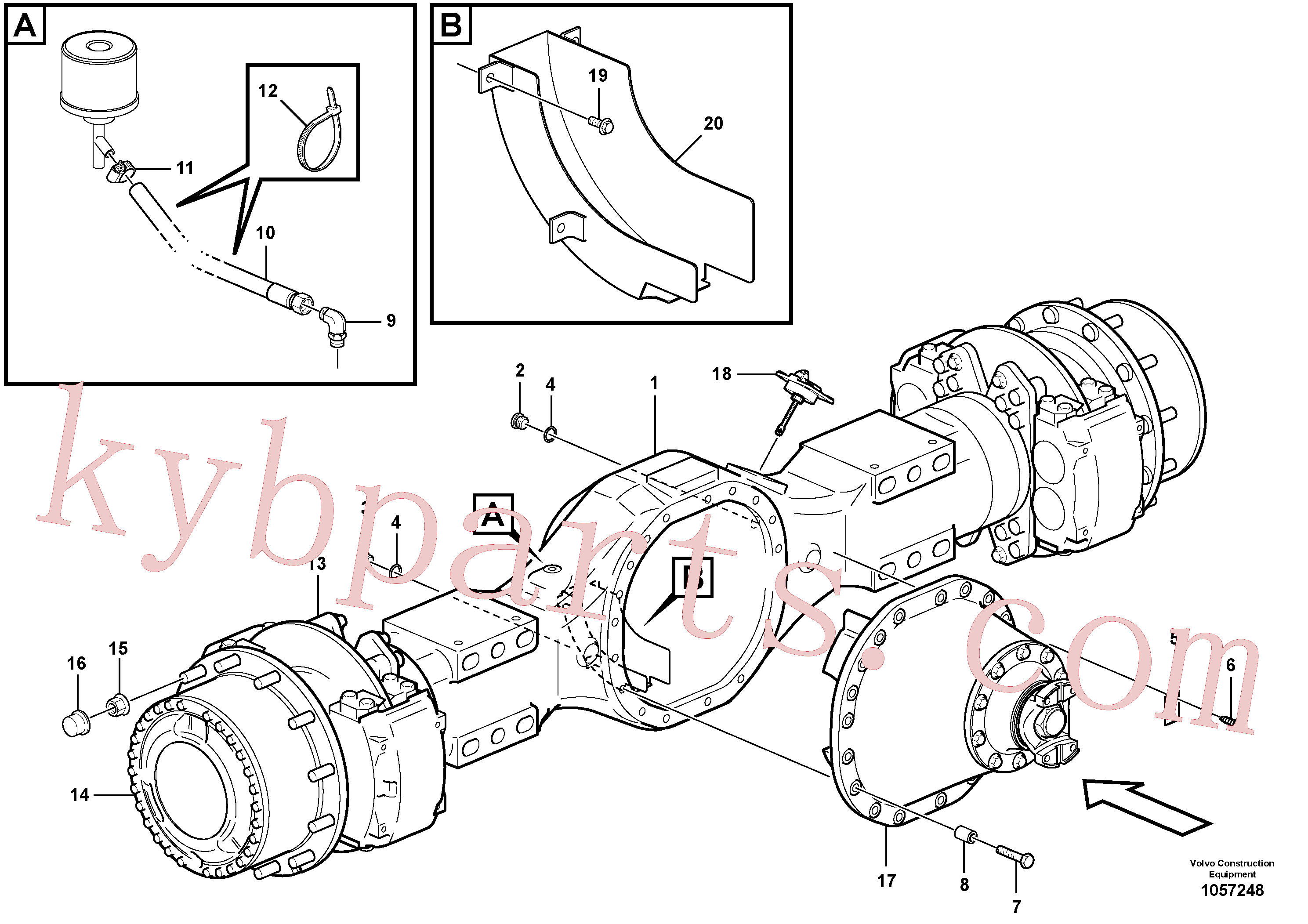 VOE13934510 for Volvo Planetary axle, motor unit(1057248 assembly)