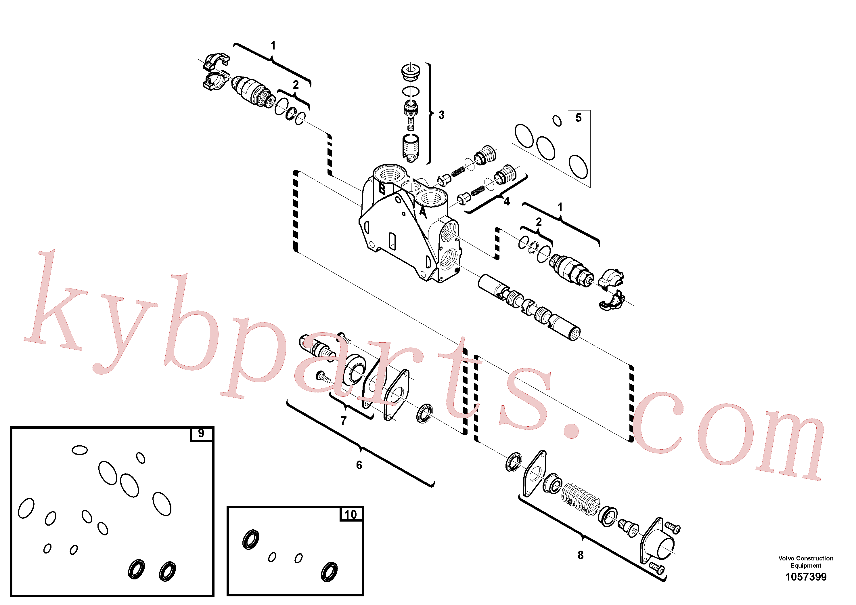 VOE11988526 for Volvo Valve section(1057399 assembly)