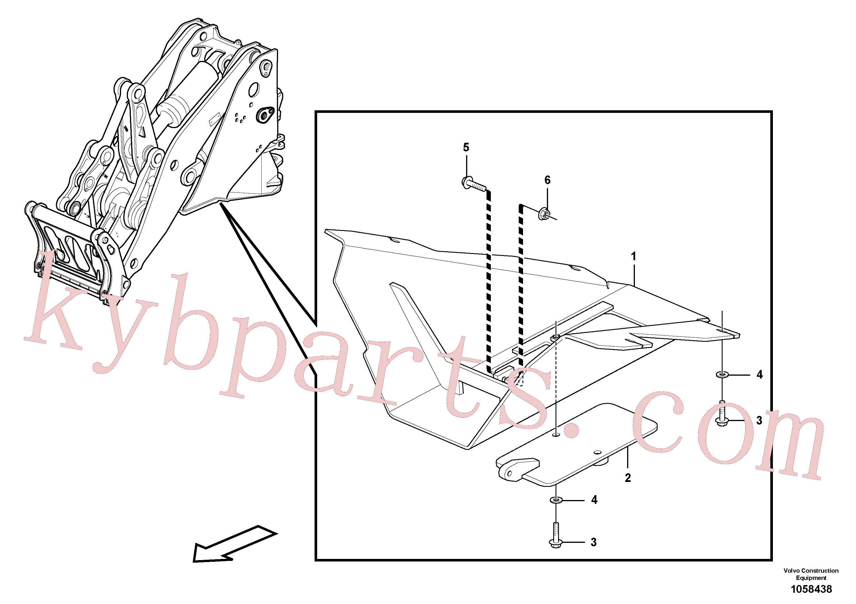 VOE13960145 for Volvo Belly guard, front.(1058438 assembly)