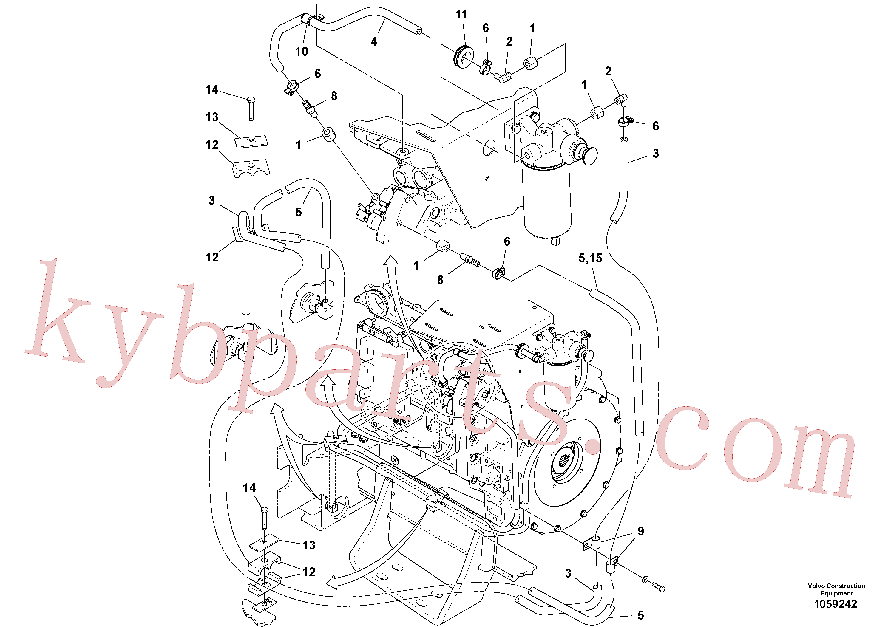 RM59117333 for Volvo Fuel Line Installation(1059242 assembly)