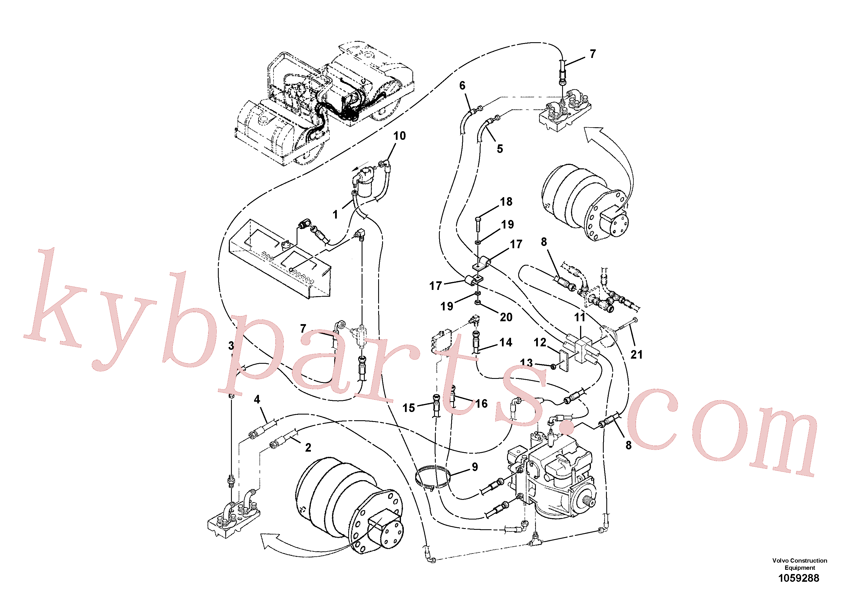 RM59706960 for Volvo Traction Hoses Installation(1059288 assembly)
