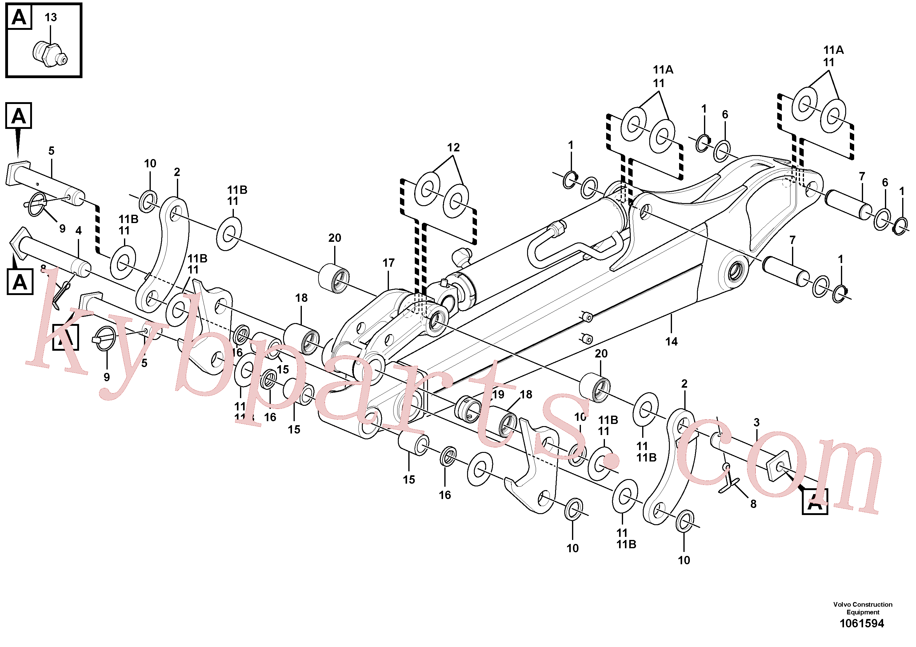 PJ5530004 for Volvo Dipper arm(1061594 assembly)