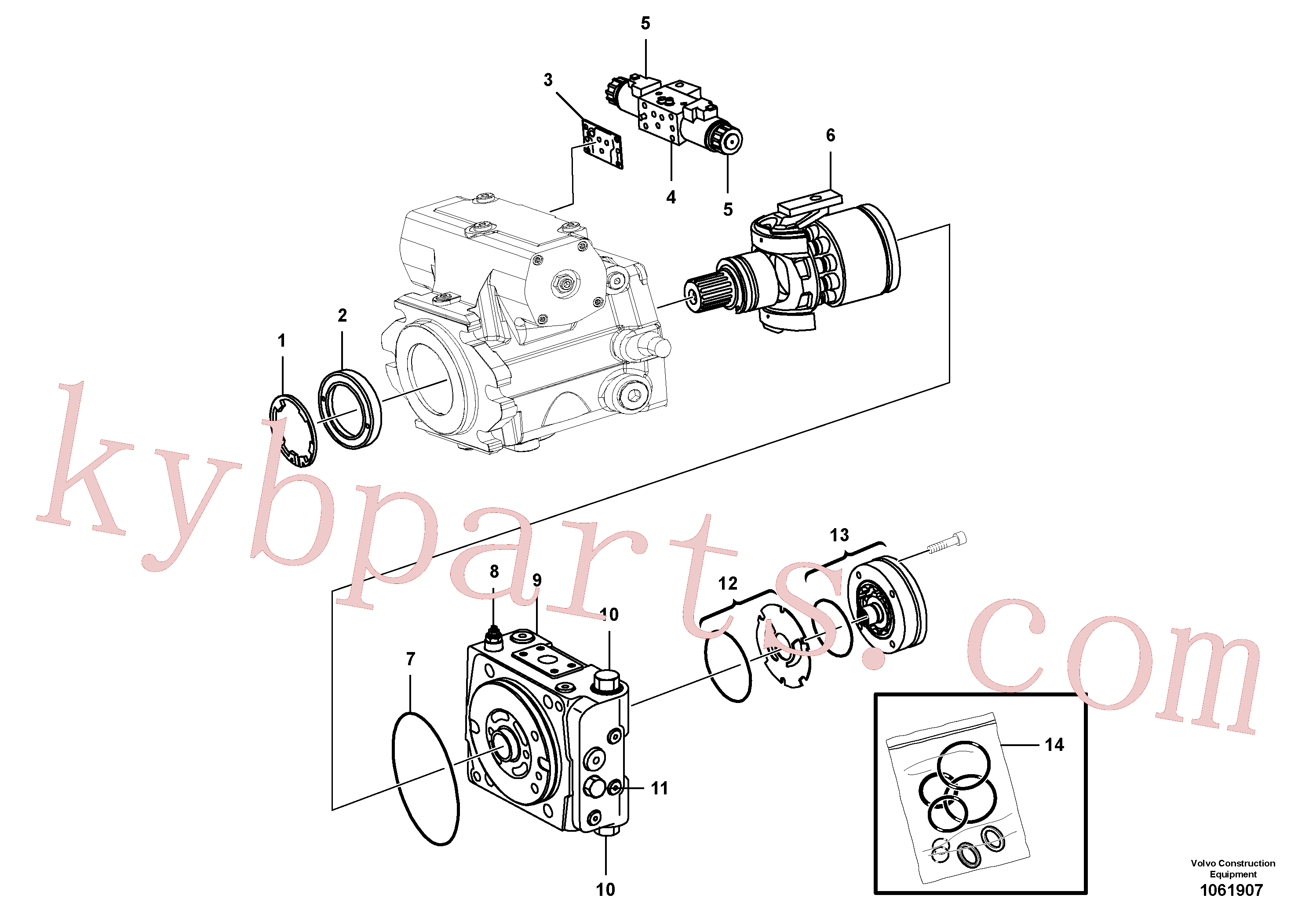 RM43914217 for Volvo Propulsion Pump(1061907 assembly)