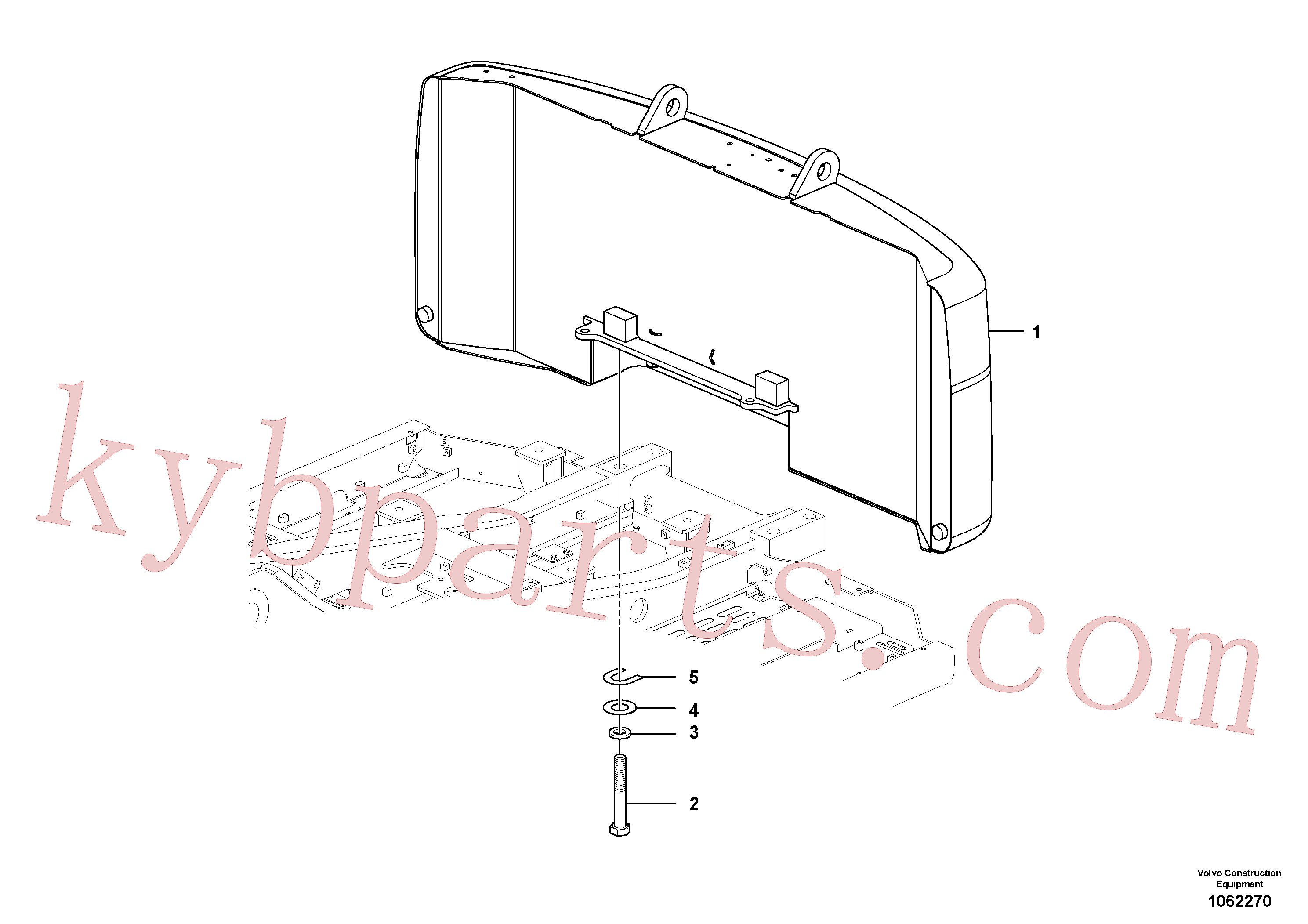 SA9011-23028 for Volvo Counterweights(1062270 assembly)