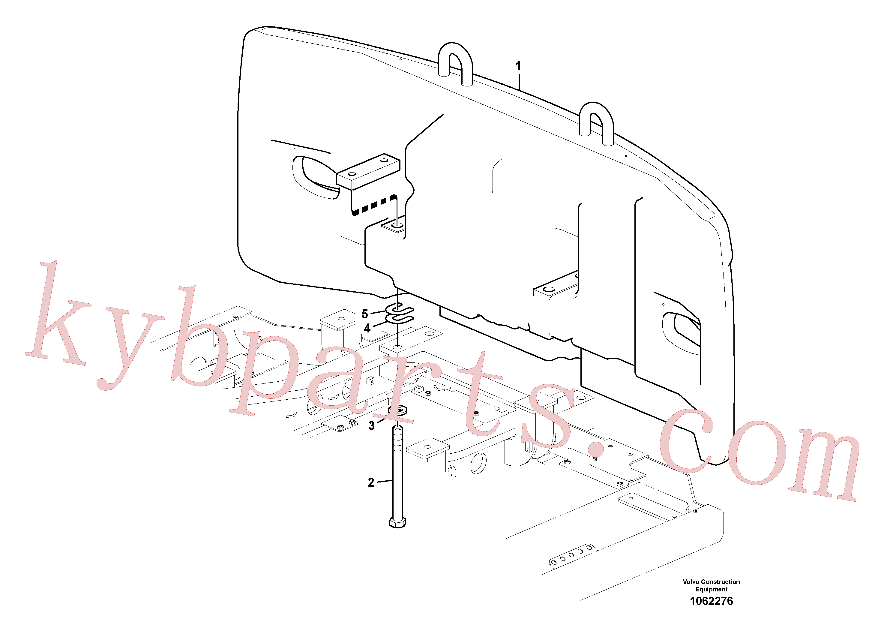 SA9011-23028 for Volvo Counterweights(1062276 assembly)