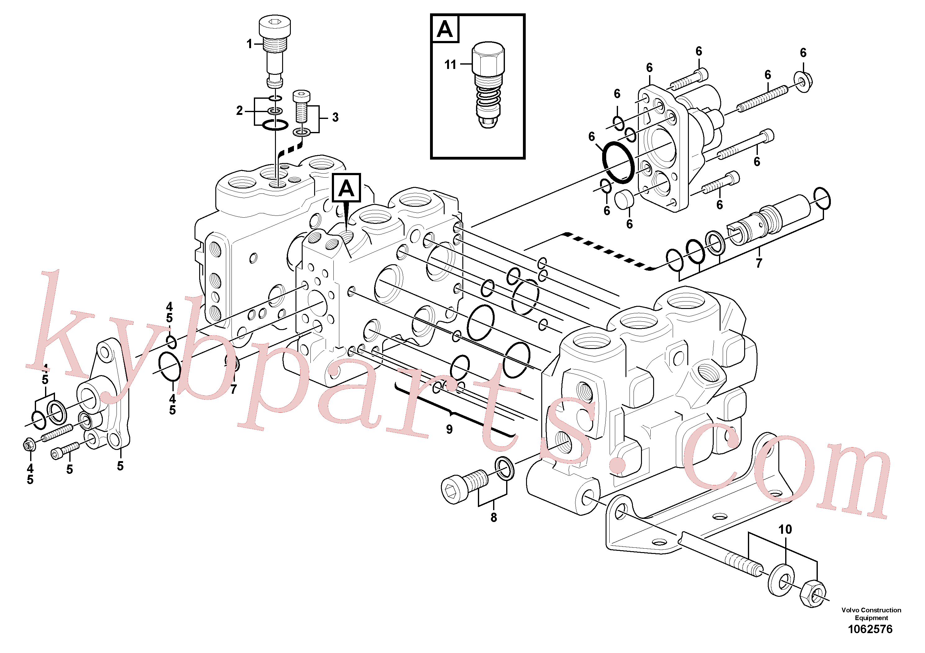 VOE11701439 for Volvo Control valve(1062576 assembly)