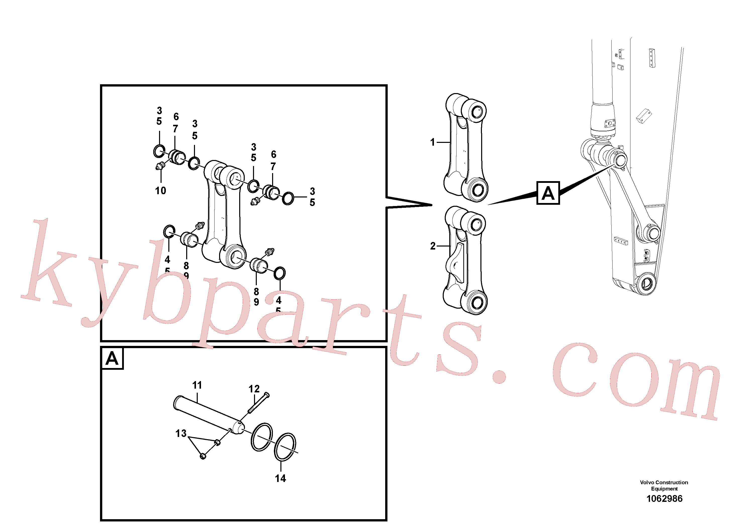 VOE14548218 for Volvo Links to connecting rod(1062986 assembly)