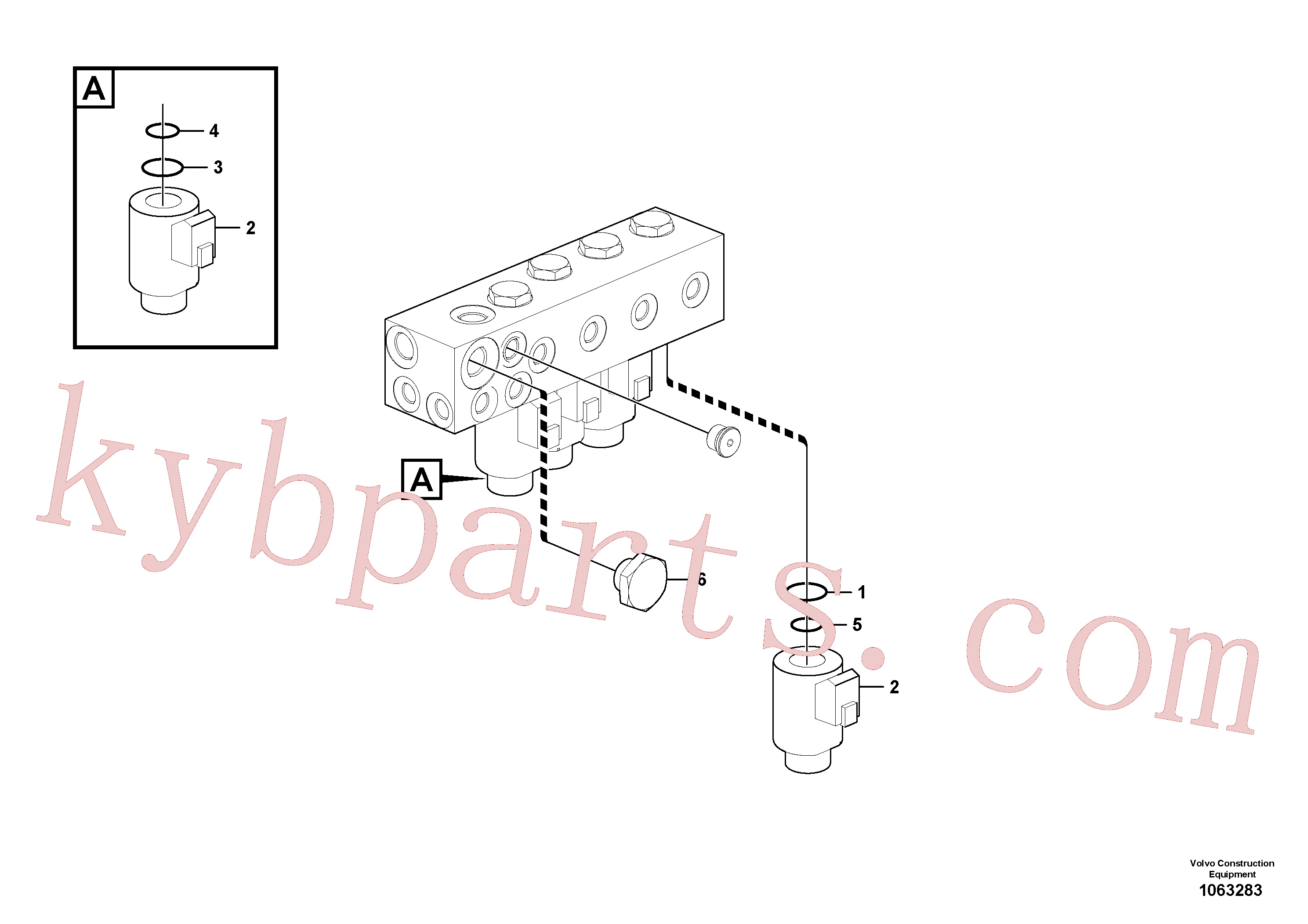 VOE14533610 for Volvo Valve(1063283 assembly)