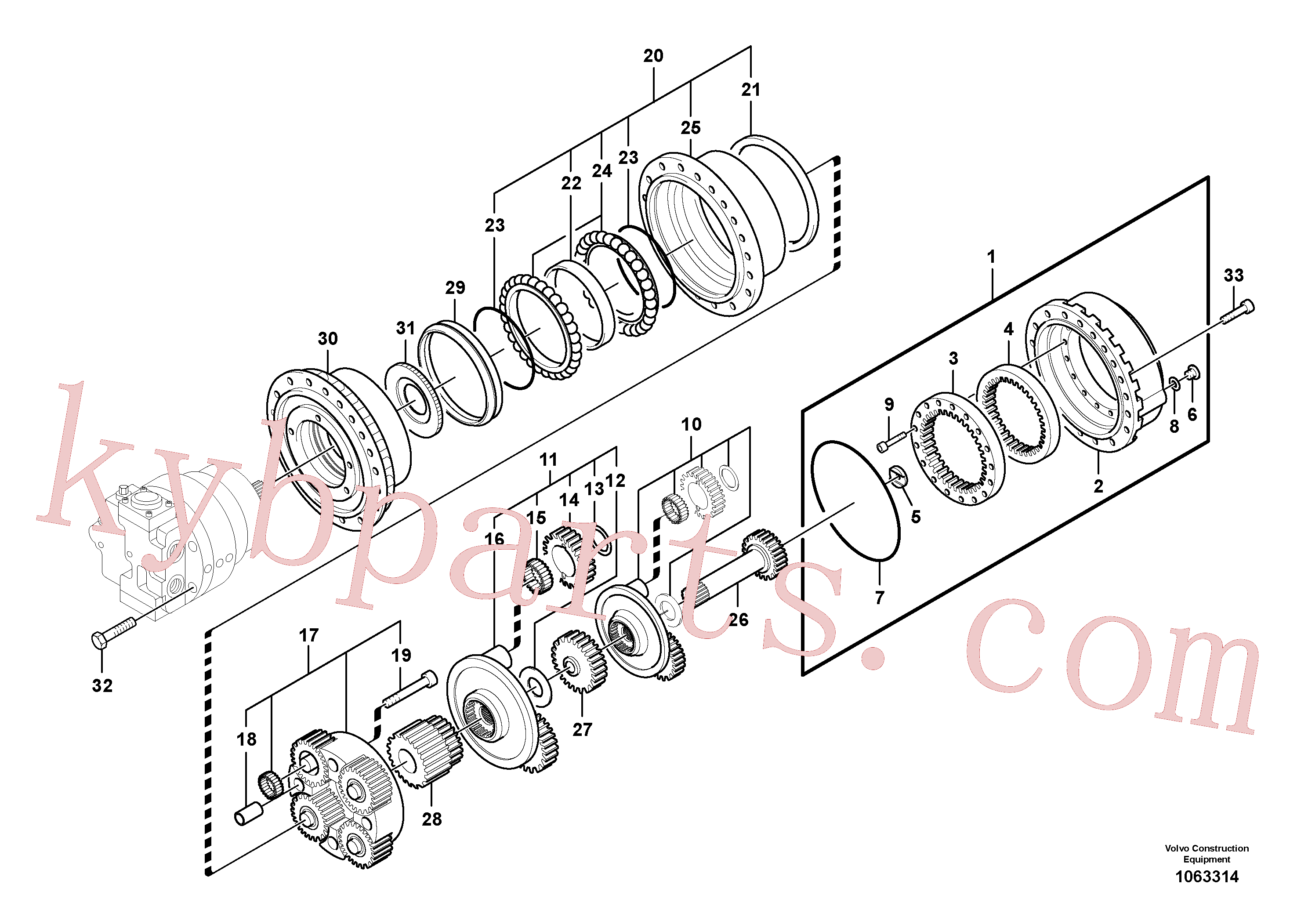 SA8230-35430 for Volvo Travel gearbox(1063314 assembly)