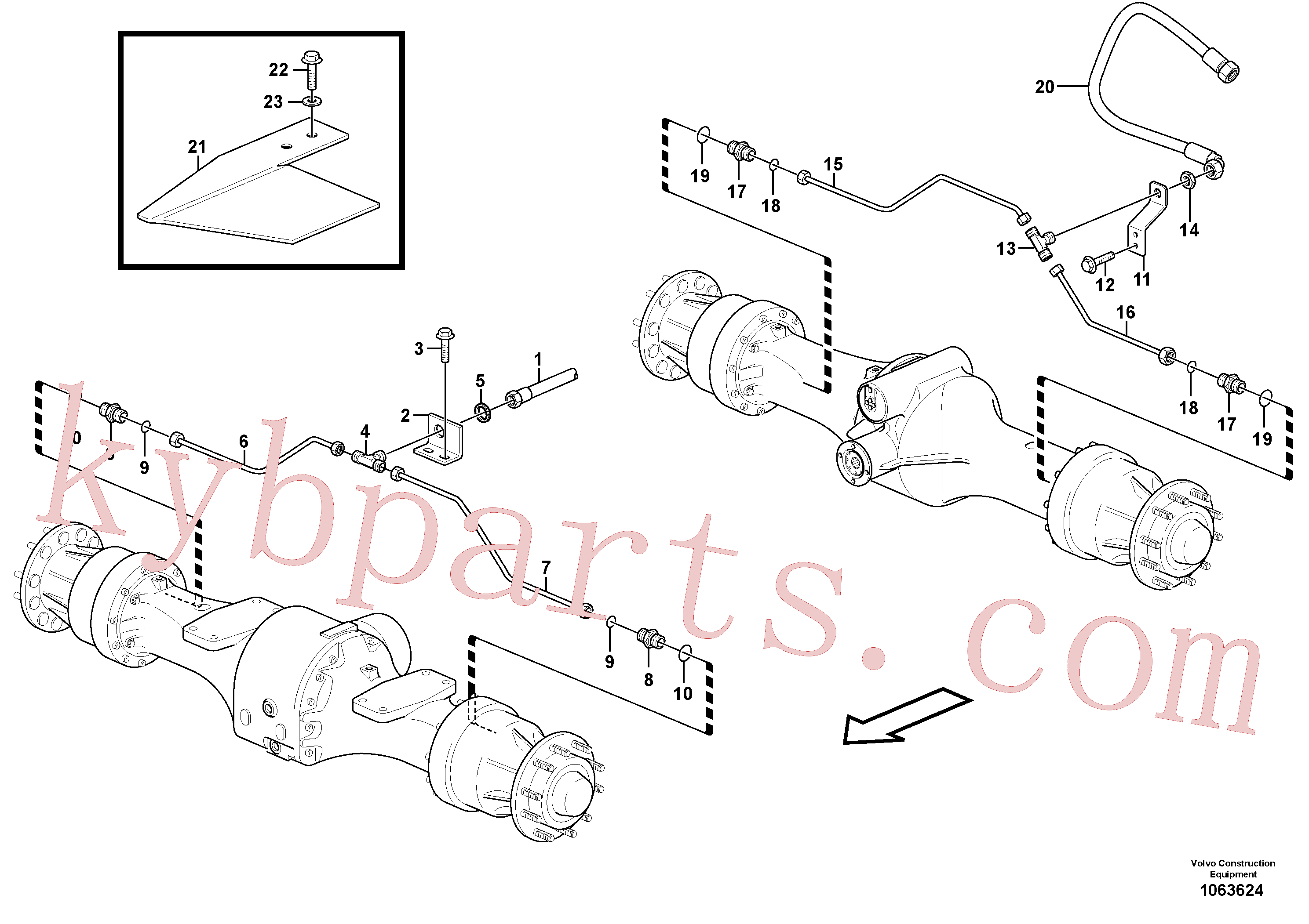 VOE935375 for Volvo Brake pipes, front axle and rear axle(1063624 assembly)