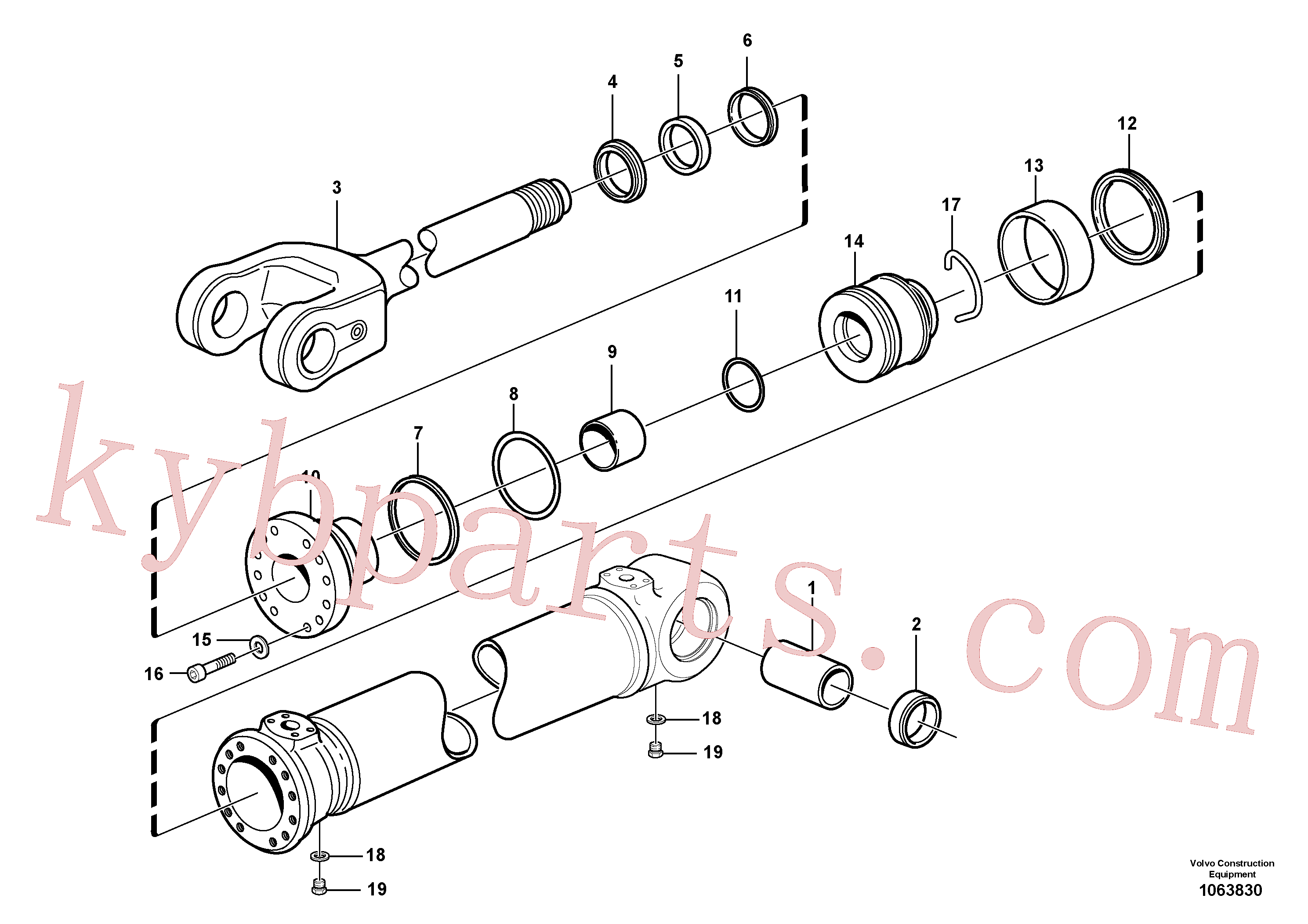 VOE4784048 for Volvo Hydraulic cylinder, lifting(1063830 assembly)