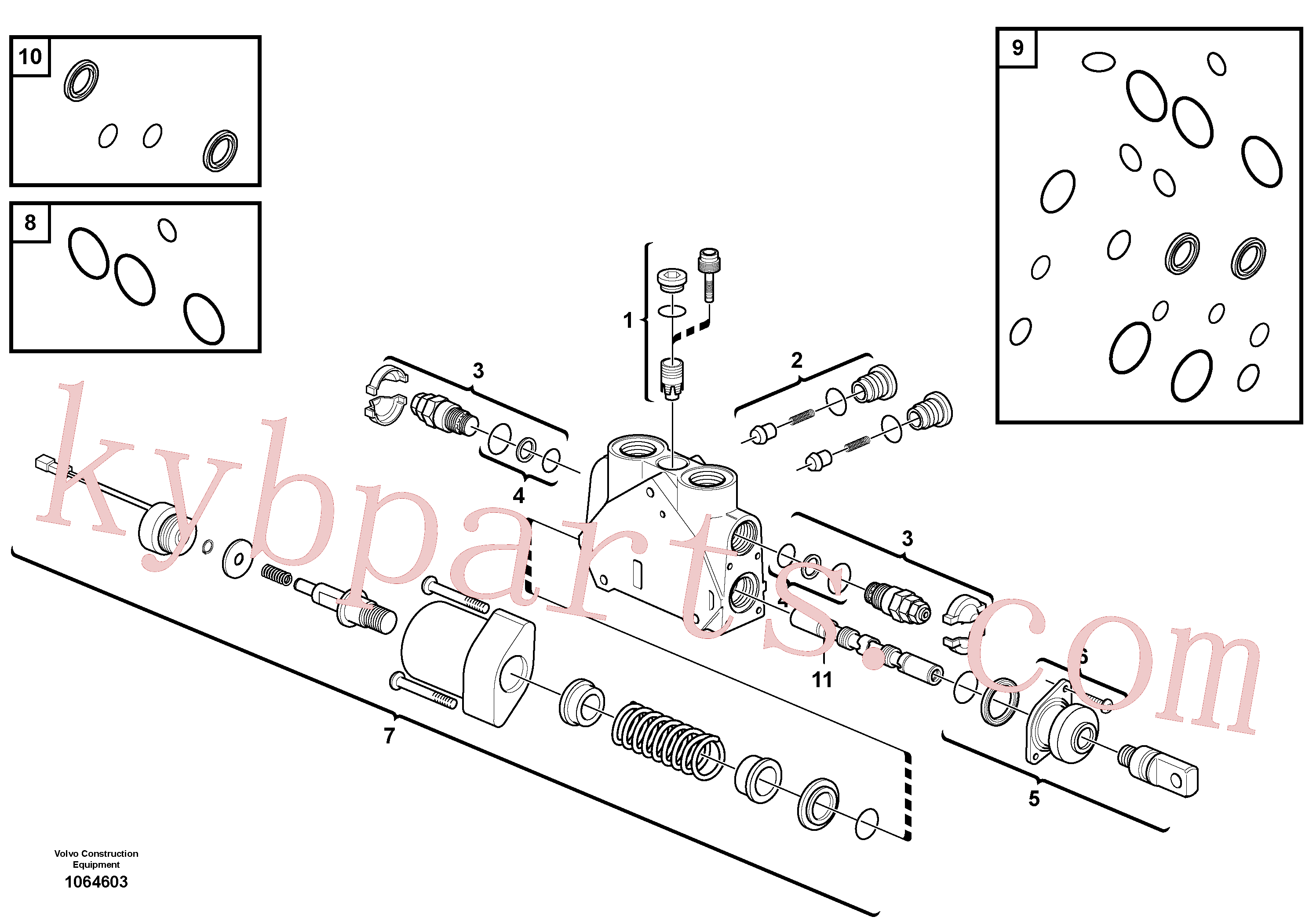 VOE11988526 for Volvo Valve section(1064603 assembly)