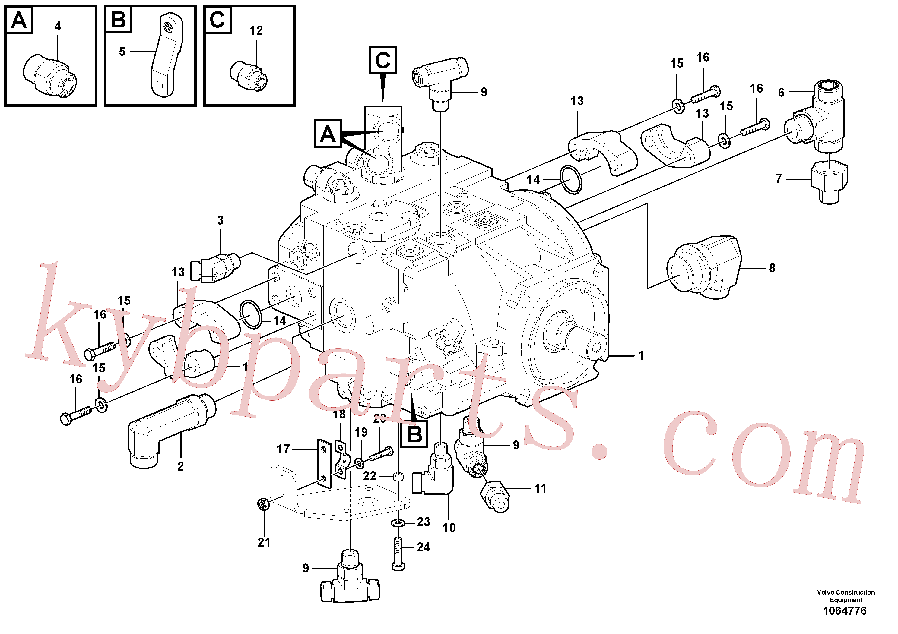 RM96702865 for Volvo Propulsion Pump(1064776 assembly)