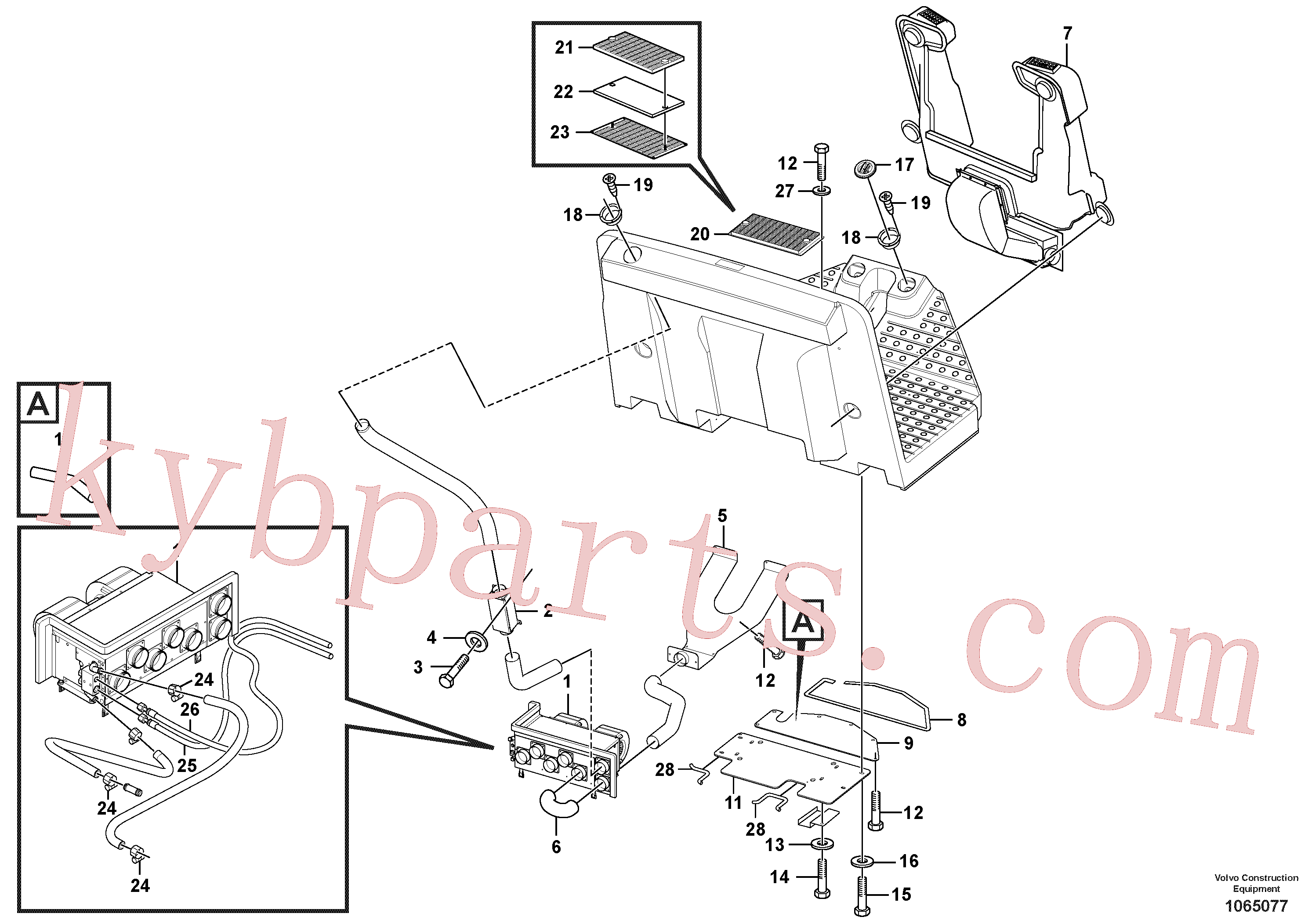 VOE955893 for Volvo Heater Installation(1065077 assembly)