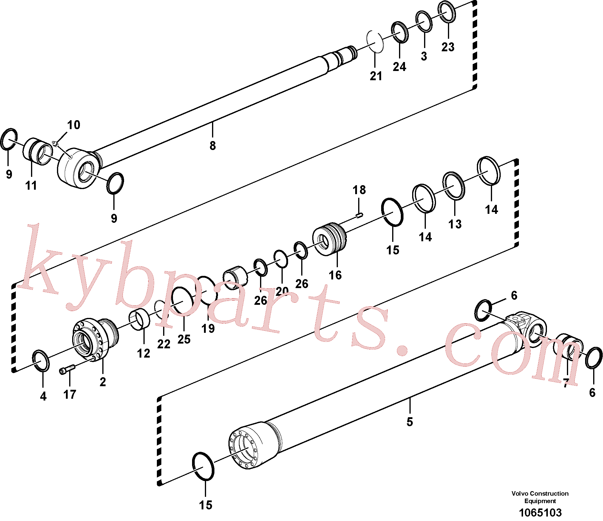 SA9567-21100 for Volvo Bucket cylinder(1065103 assembly)