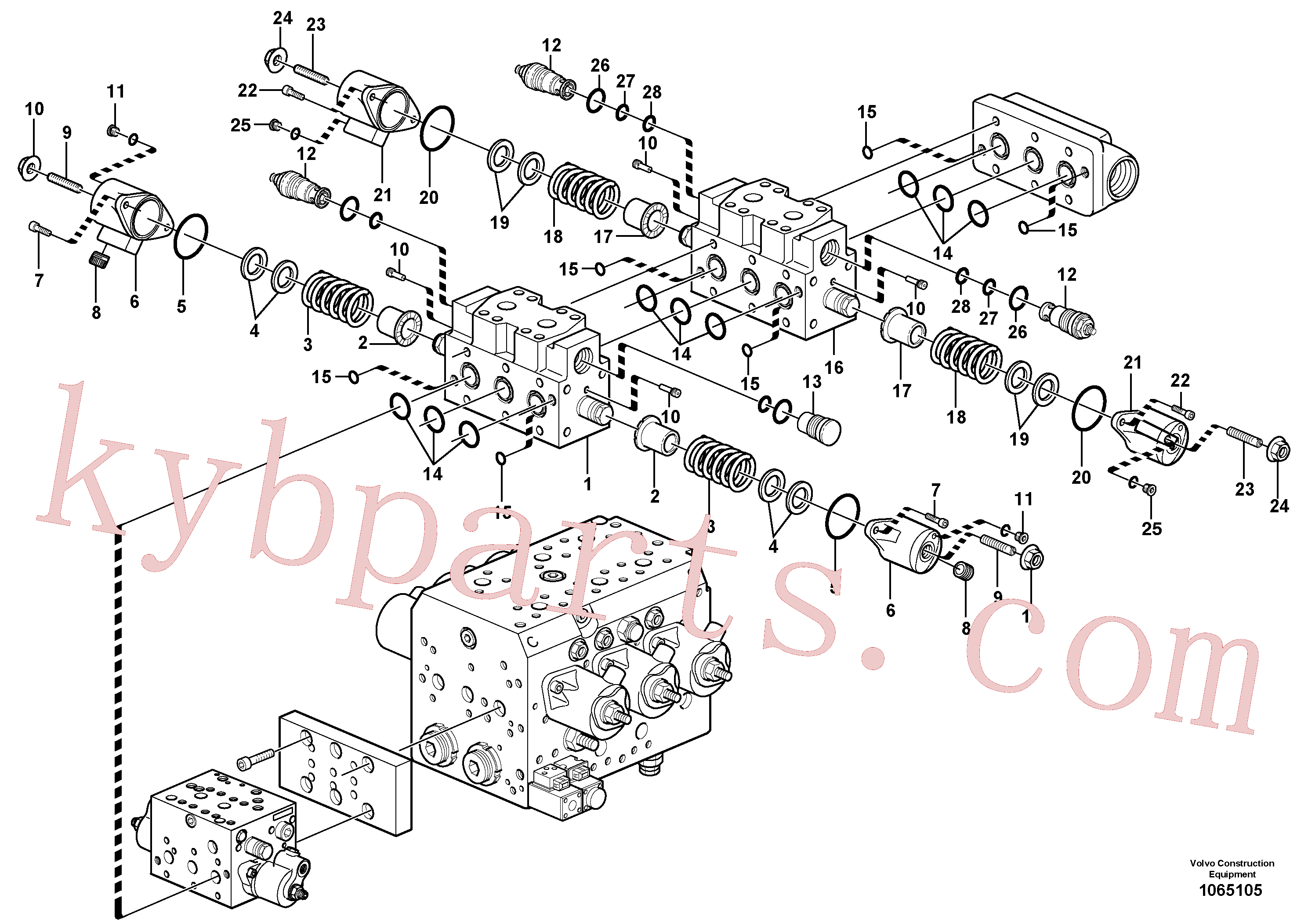 VOE11704920 for Volvo Valve(1065105 assembly)