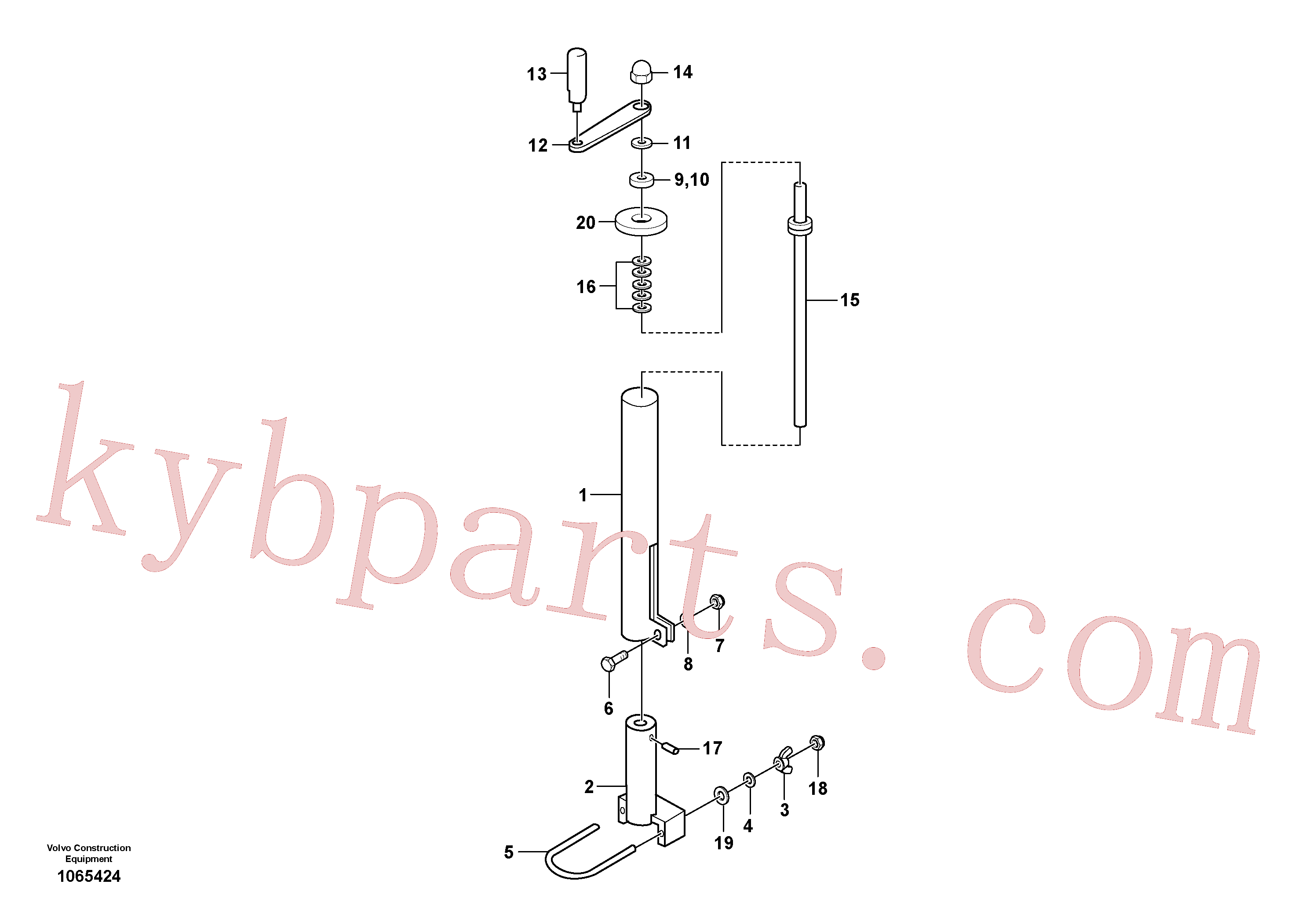 RM80832165 for Volvo Mechanical Control Assembly(1065424 assembly)