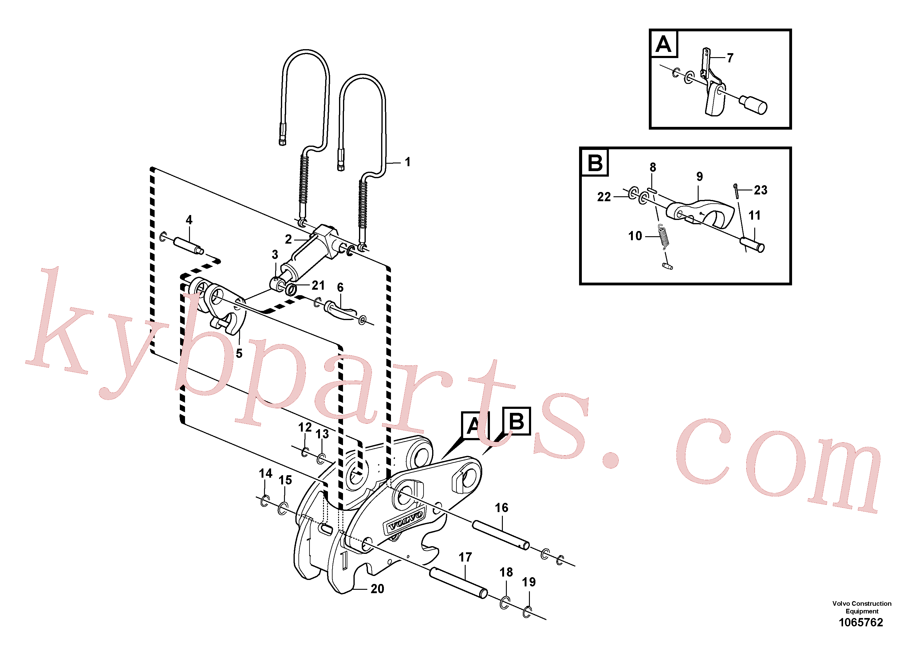 VOE15412602 for Volvo Attachment bracket, quickfit(1065762 assembly)