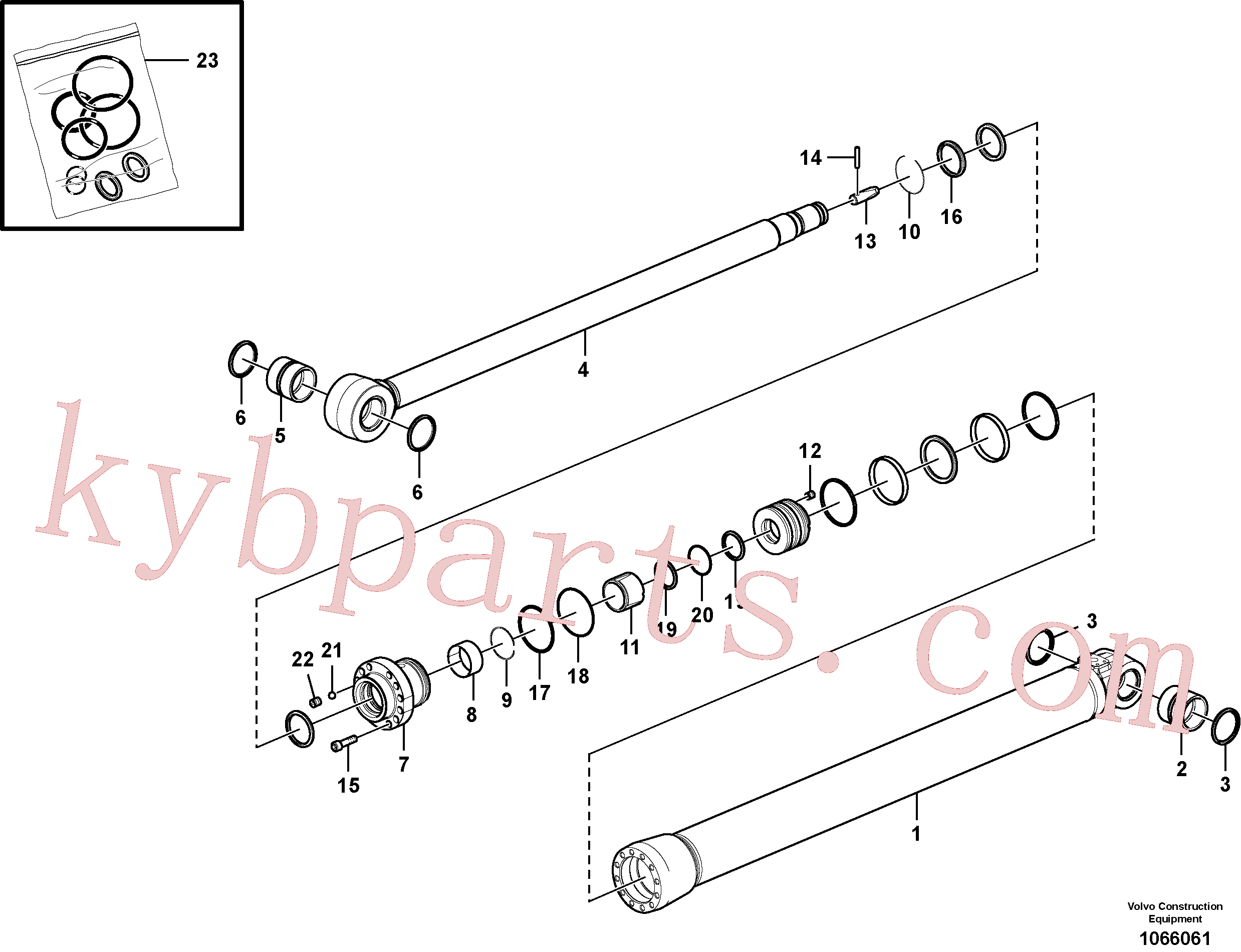 VOE14589000 for Volvo Dipper arm cylinder(1066061 assembly)