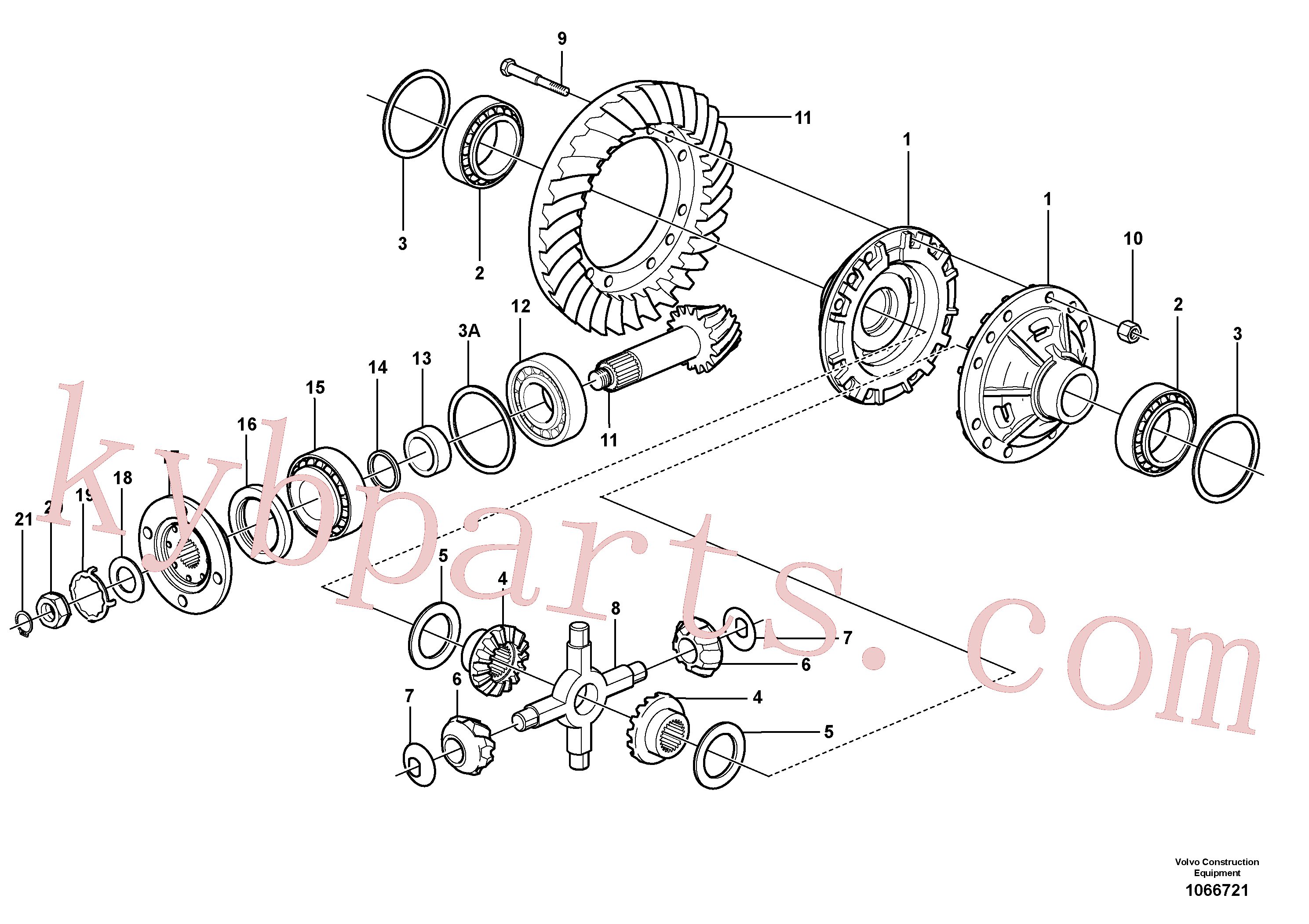 VOE17210900 for Volvo Final drive, rear(1066721 assembly)