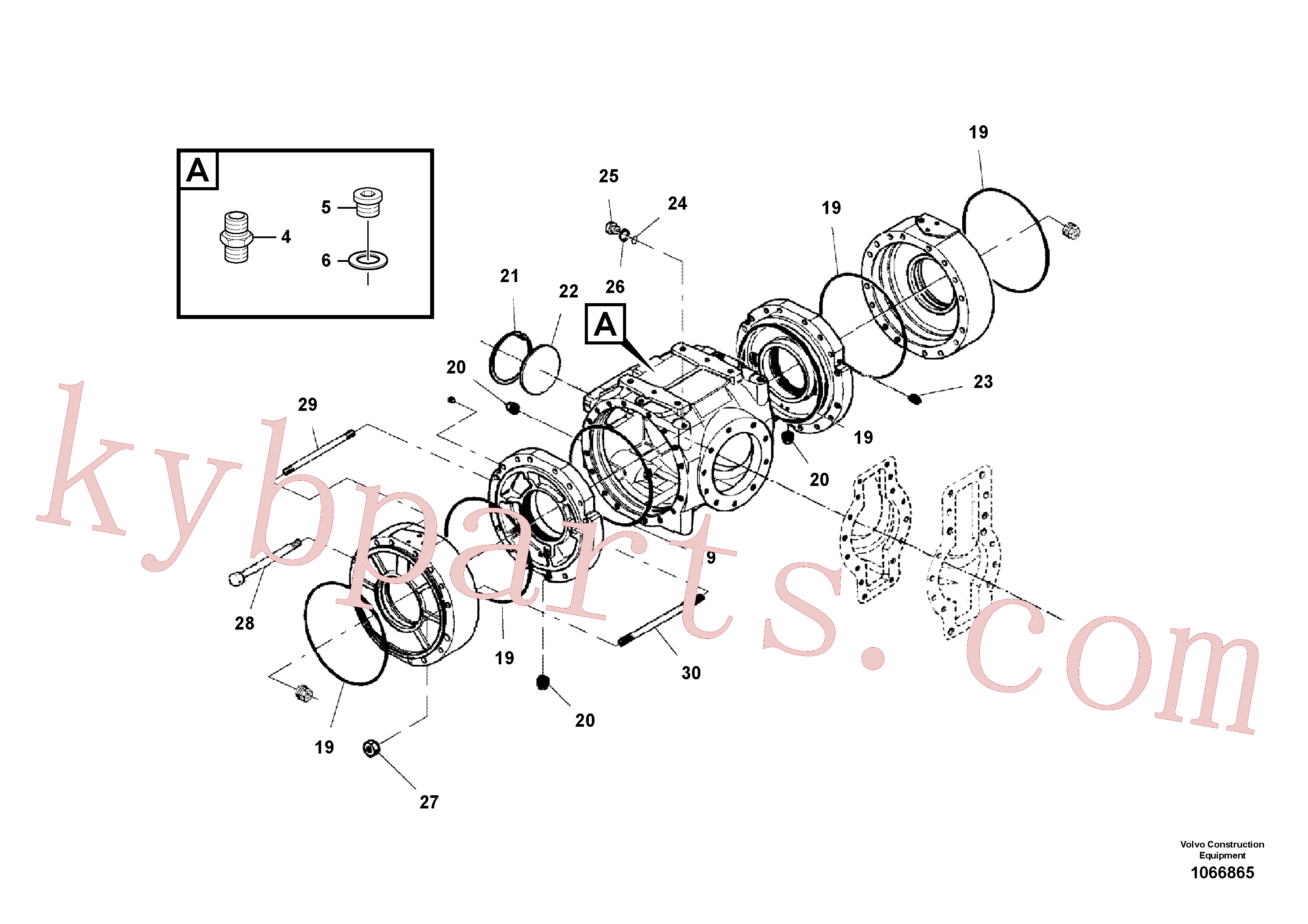 RM59251009 for Volvo Axle Assembly(1066865 assembly)