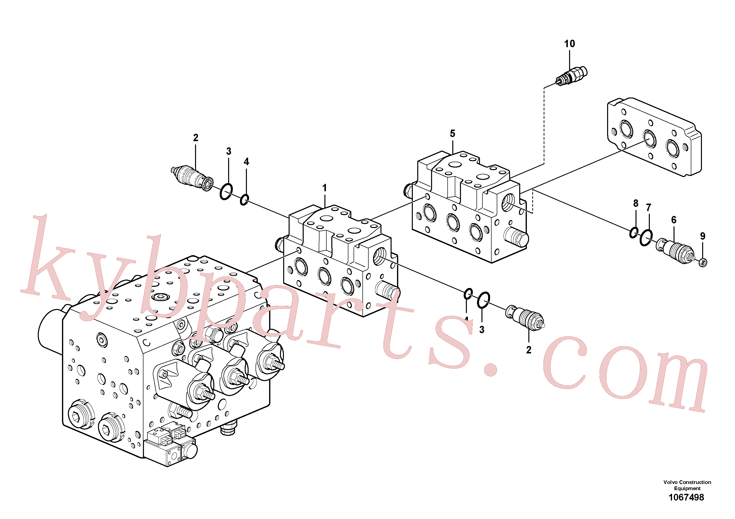VOE14641021 for Volvo Valve(1067498 assembly)