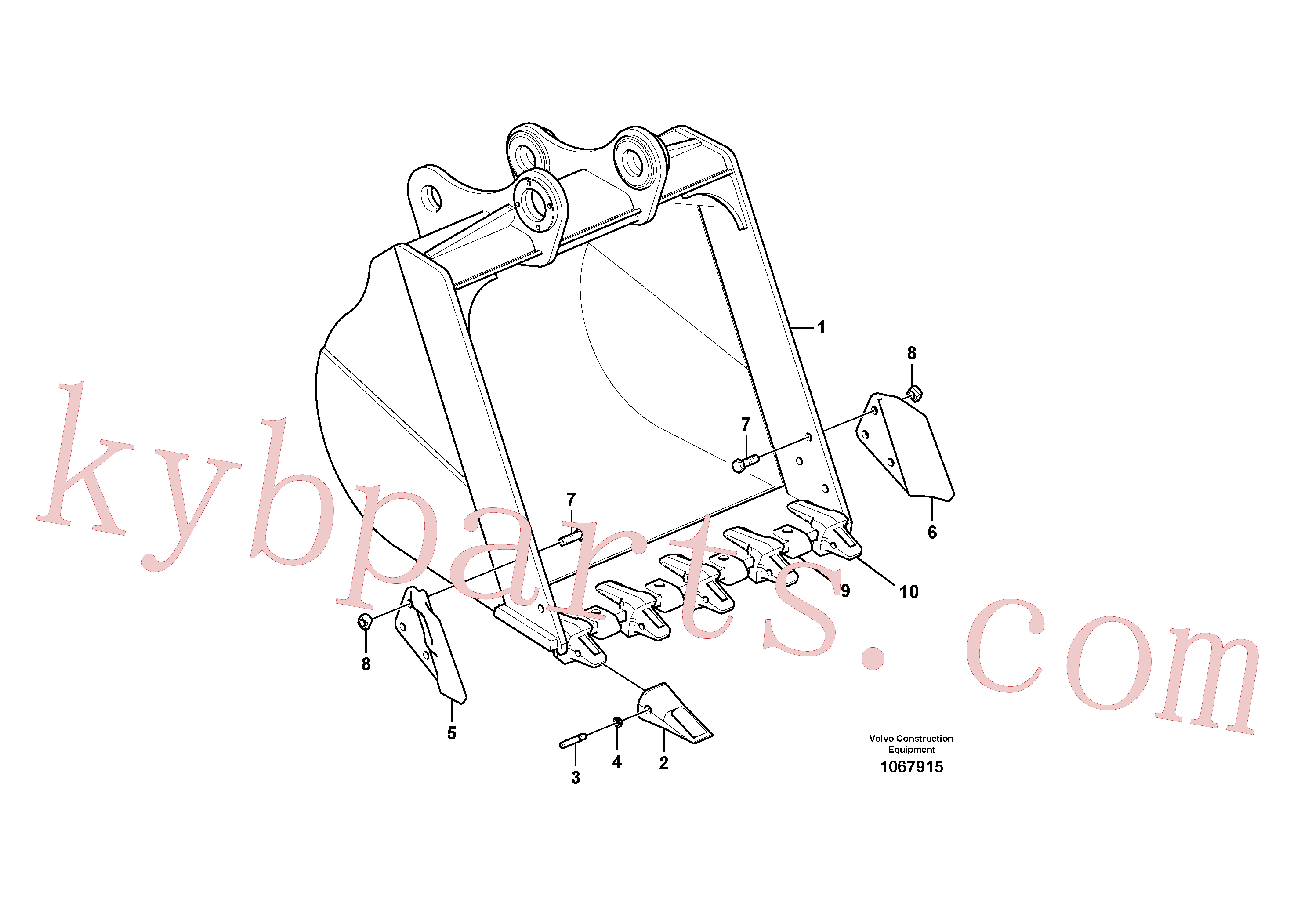 VOE14645672 for Volvo Bucket(1067915 assembly)