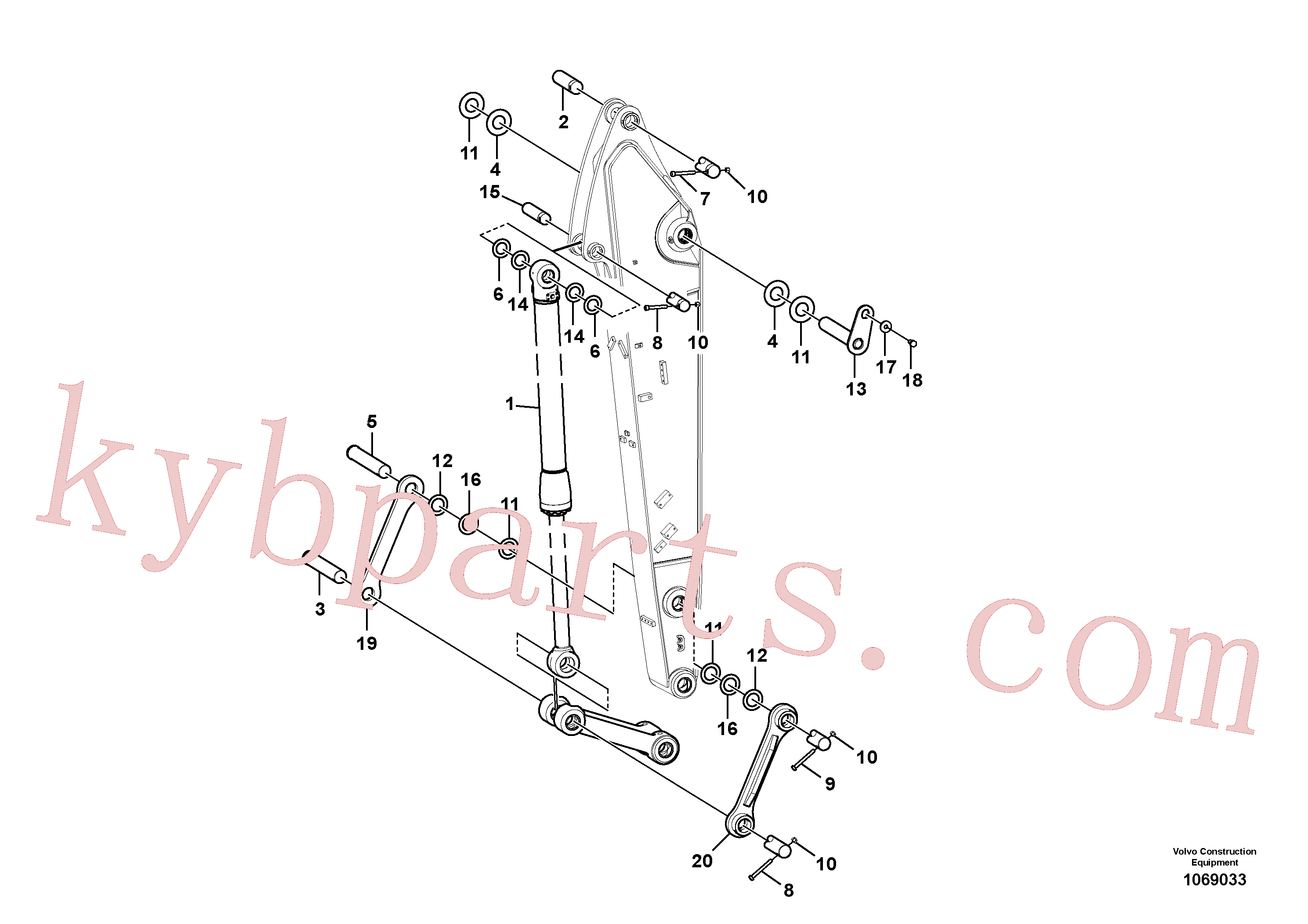 VOE14618711 for Volvo Links to dipper arm(1069033 assembly)