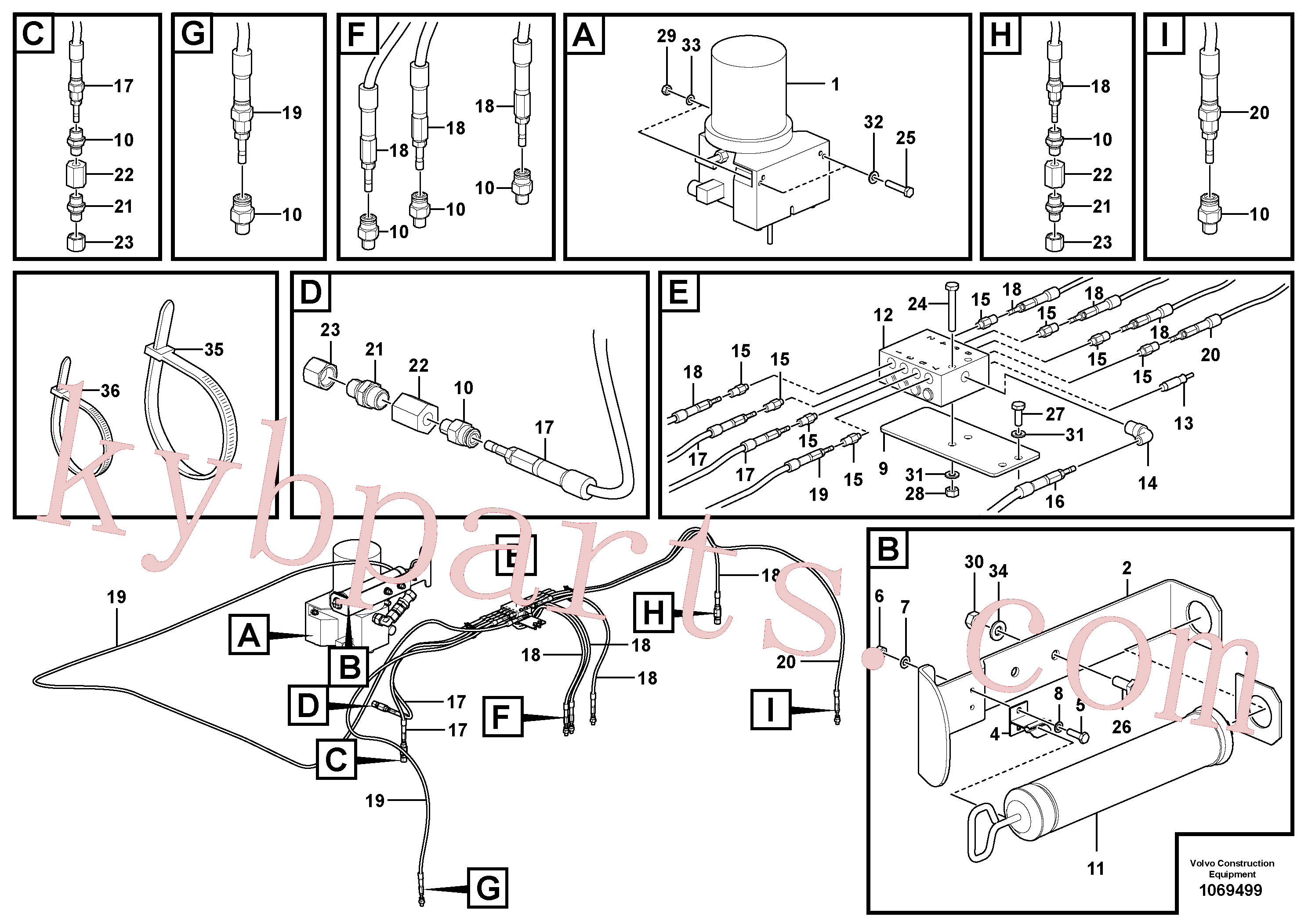 RM54660261 for Volvo Central lubrication(1069499 assembly)