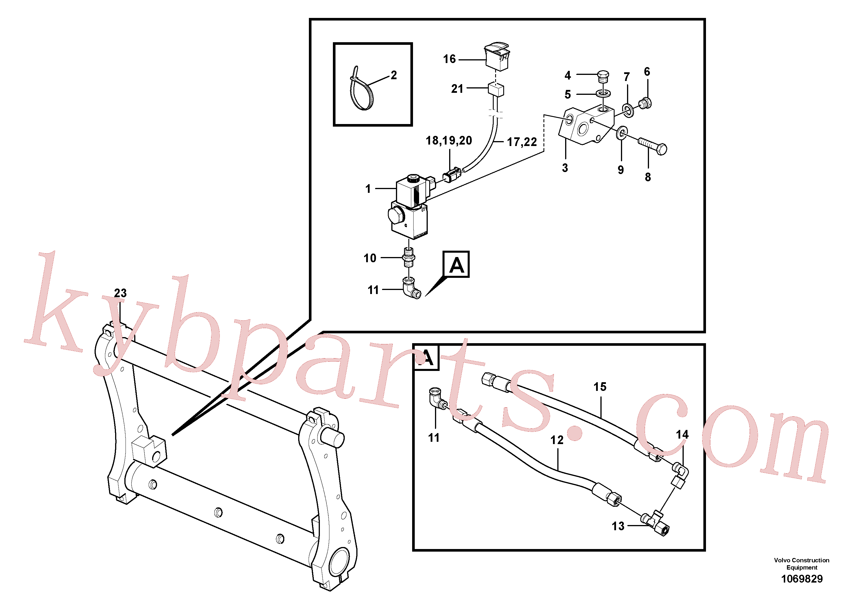 VOE874956 for Volvo Locking device(1069829 assembly)