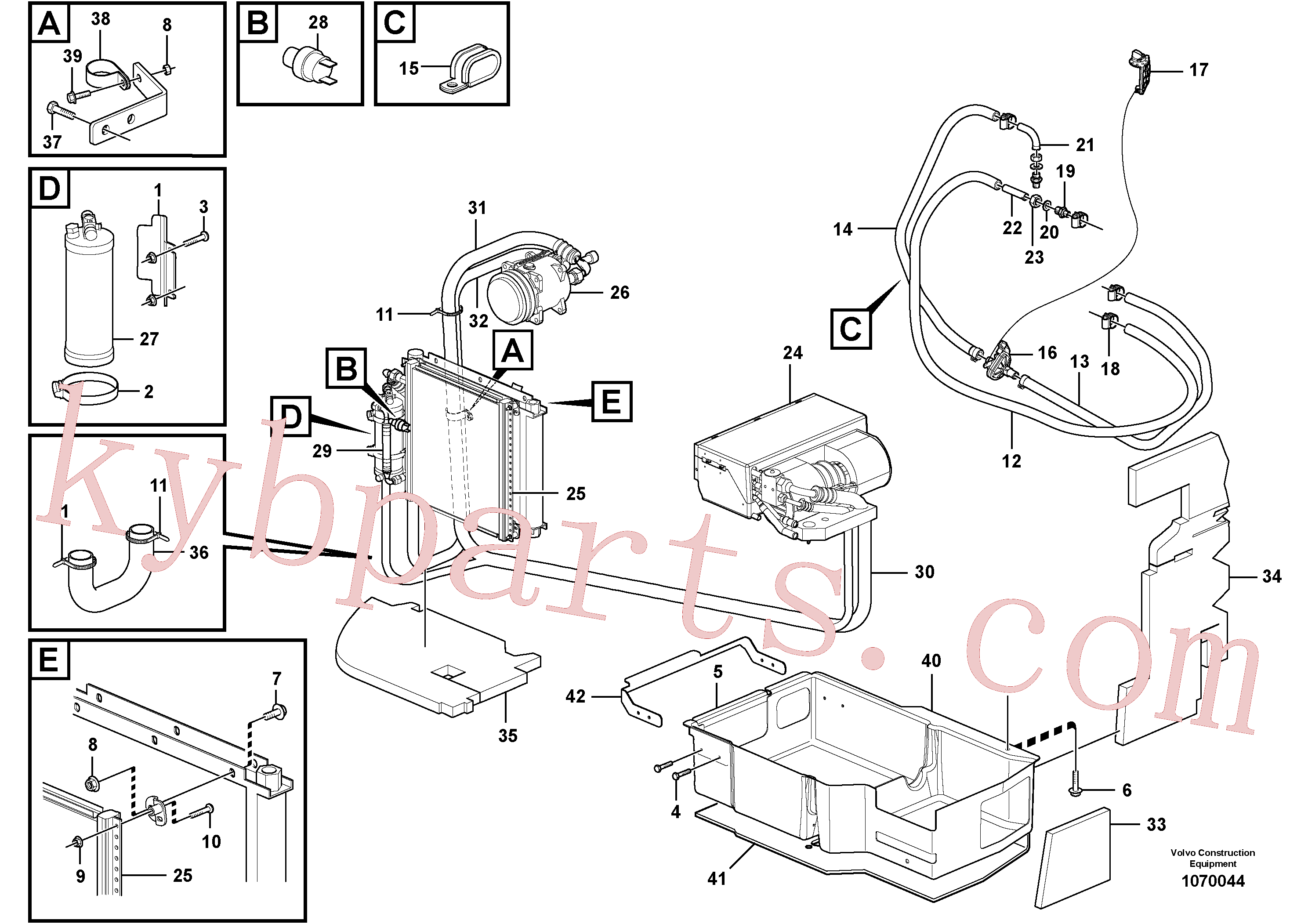 VOE969411 for Volvo Air conditioning, climate unit(1070044 assembly)