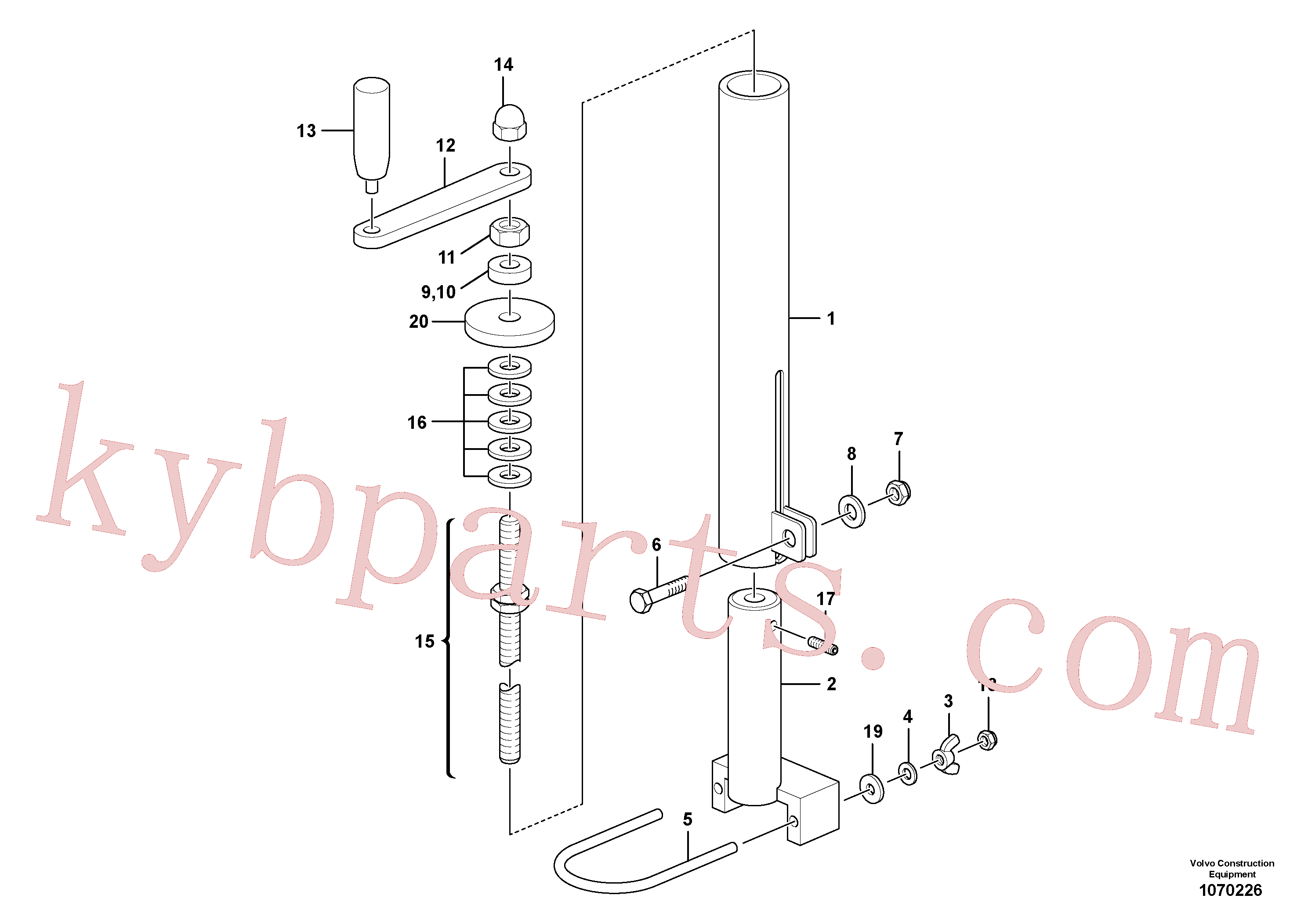 RM80832165 for Volvo Mechanical Control Assembly(1070226 assembly)