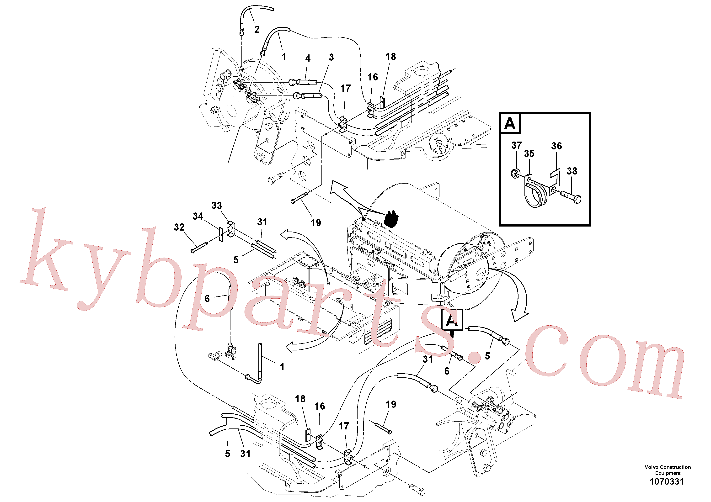 RM13402409 for Volvo Front Hosing Installation(1070331 assembly)