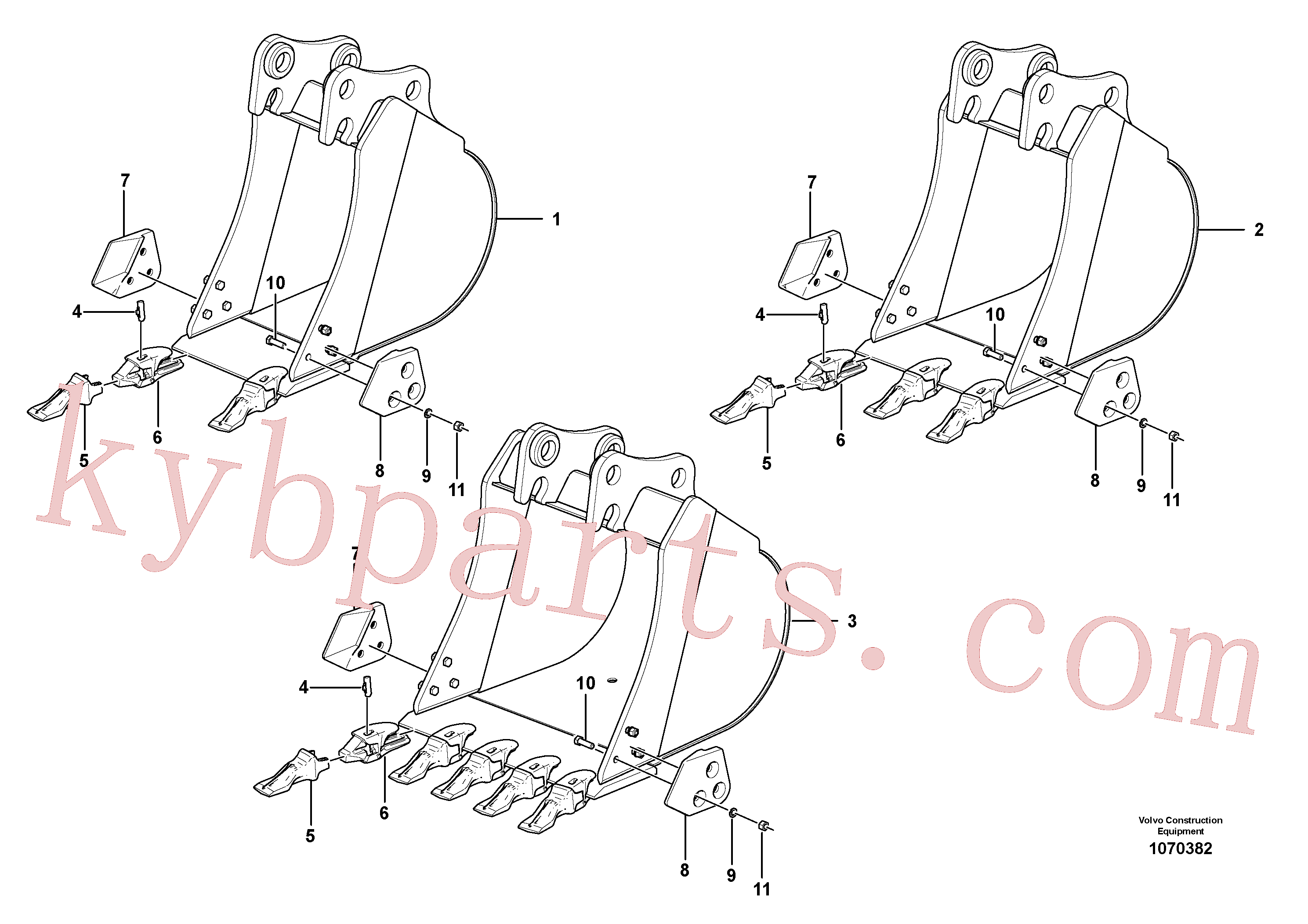 VOE15610862 for Volvo Bucket(1070382 assembly)