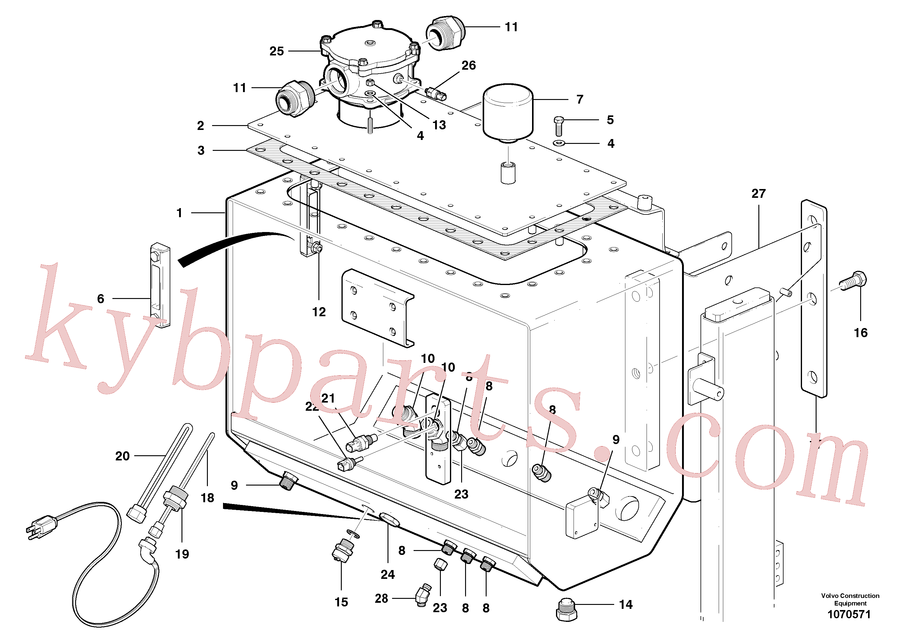 VOE983306 for Volvo Hydraulic oil tank(1070571 assembly)