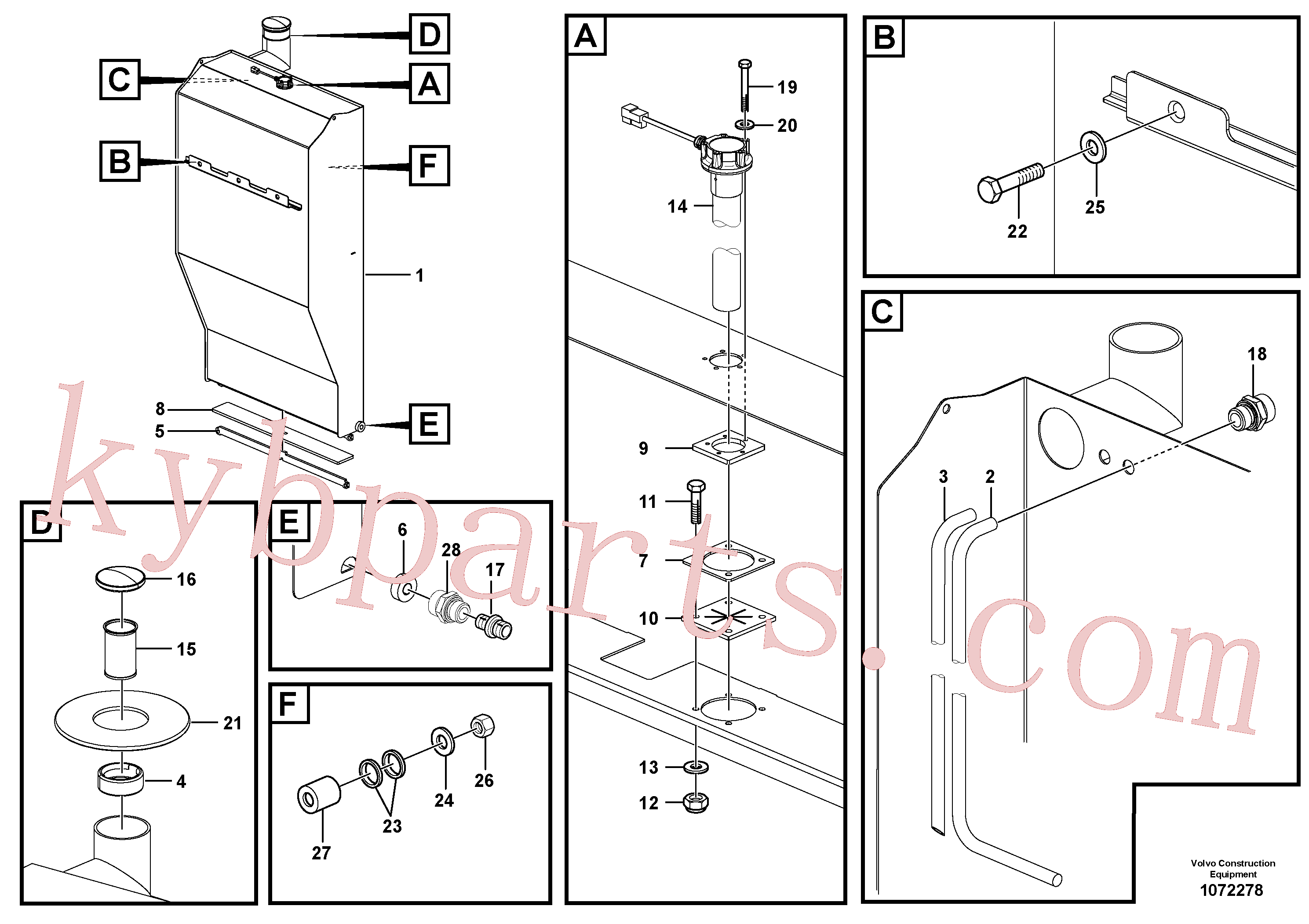 RM58849449 for Volvo Fuel tank with fitting parts(1072278 assembly)
