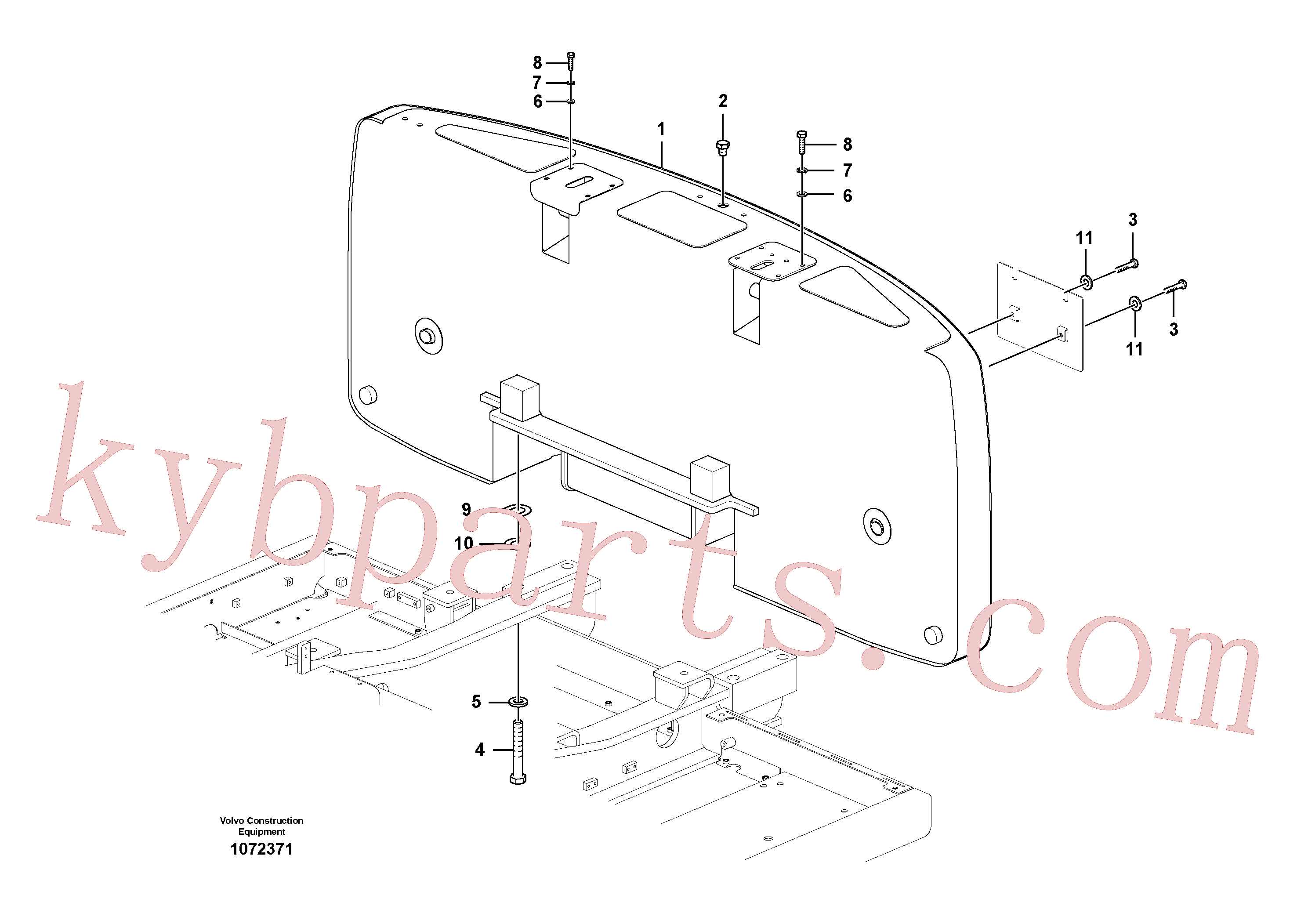 SA9011-23028 for Volvo Counterweights(1072371 assembly)