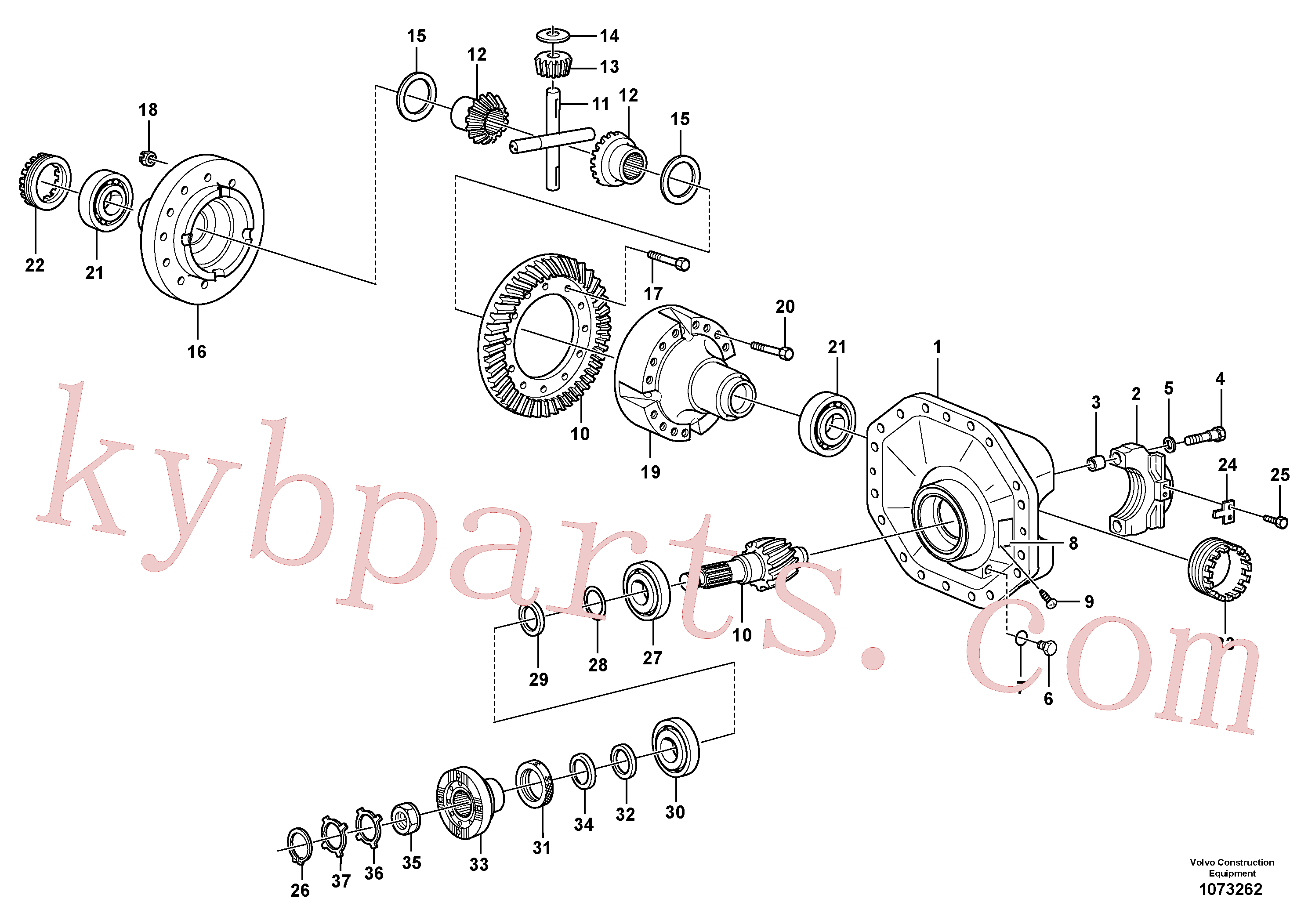 VOE11168081 for Volvo Final drive(1073262 assembly)