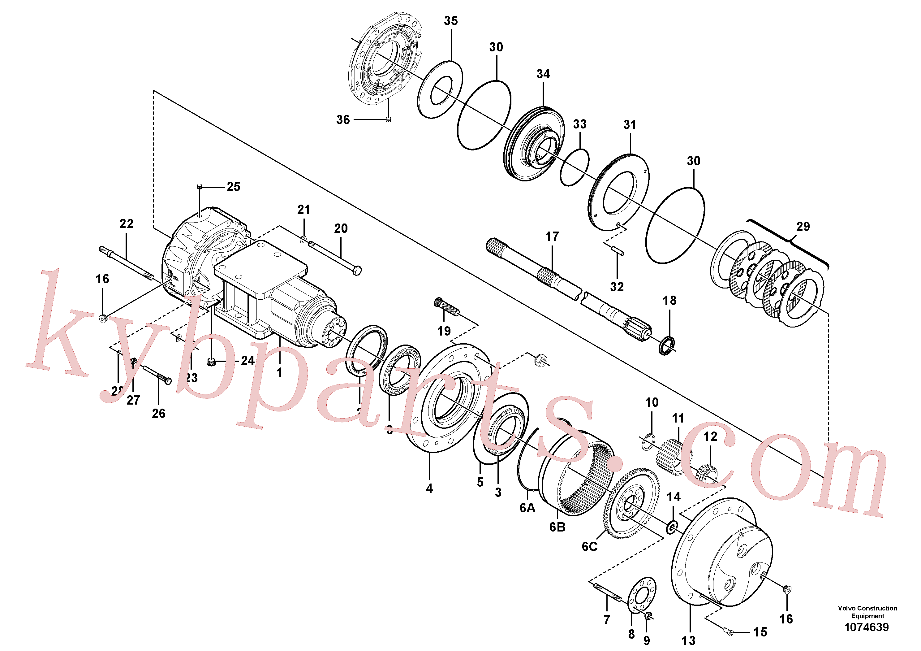RM59146241 for Volvo Axle(1074639 assembly)