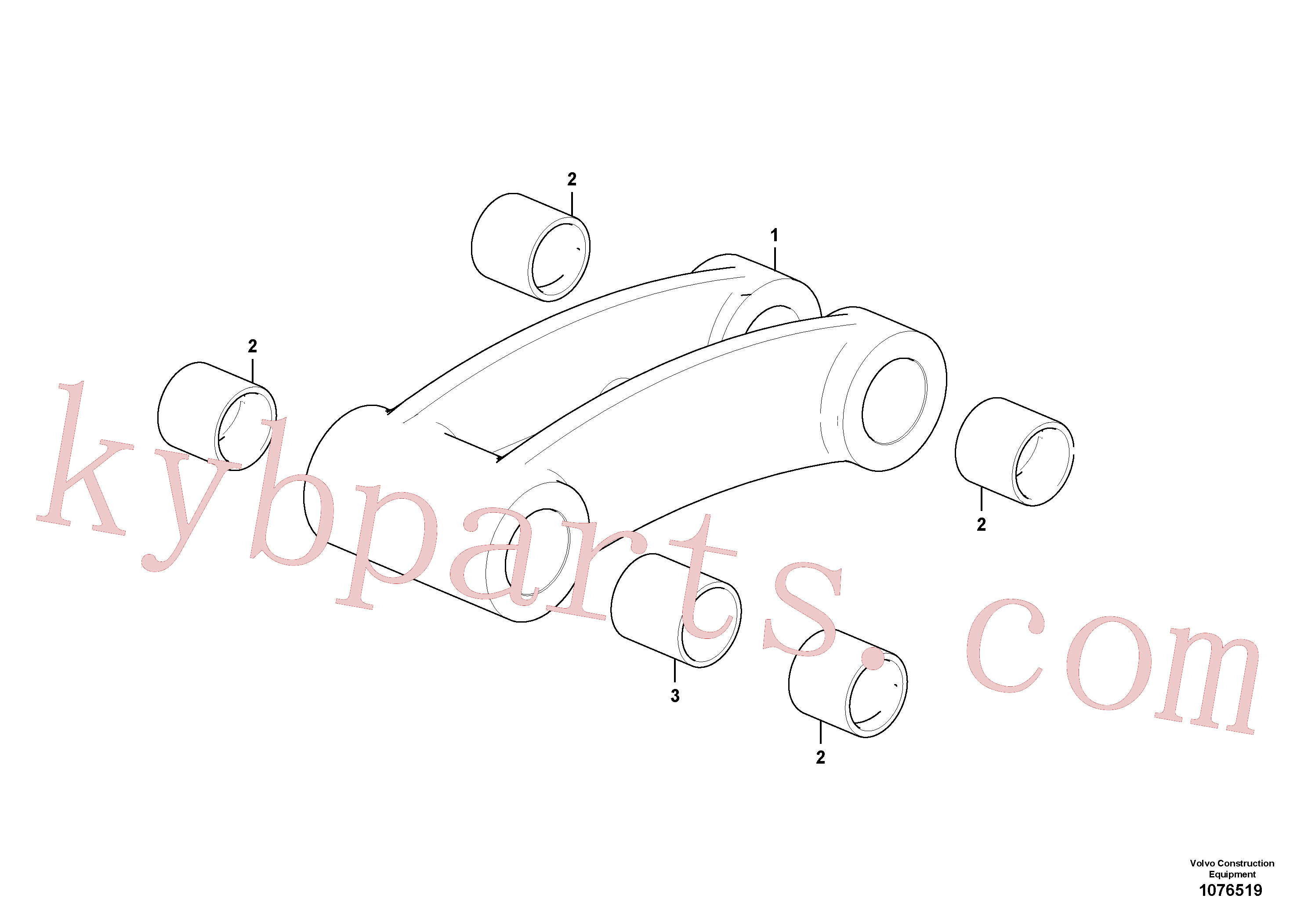 VOE11804704 for Volvo Connecting rod(1076519 assembly)