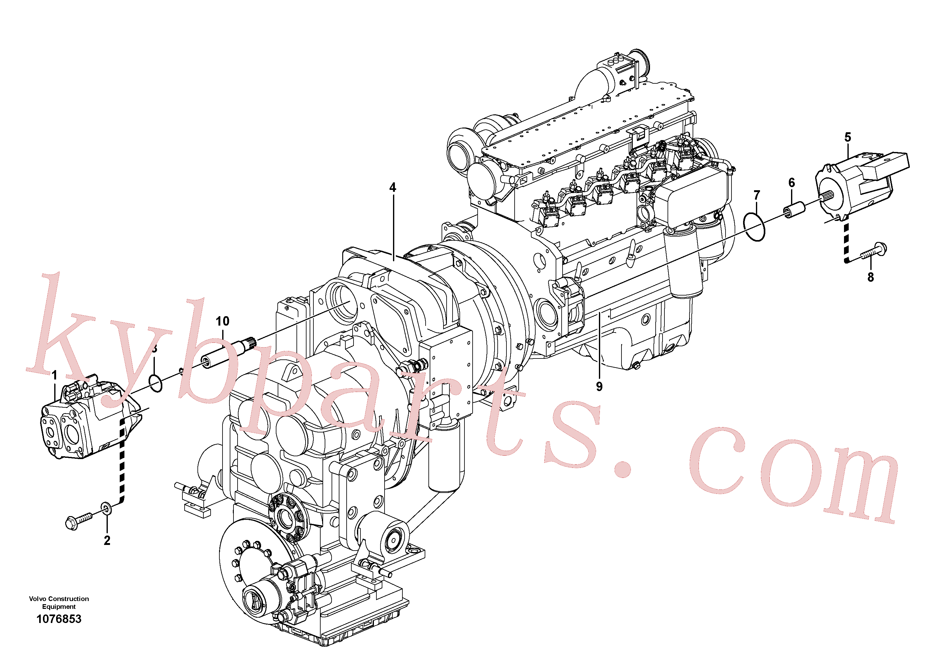ZM2900652 for Volvo Hydraulic pump with fitting parts(1076853 assembly)