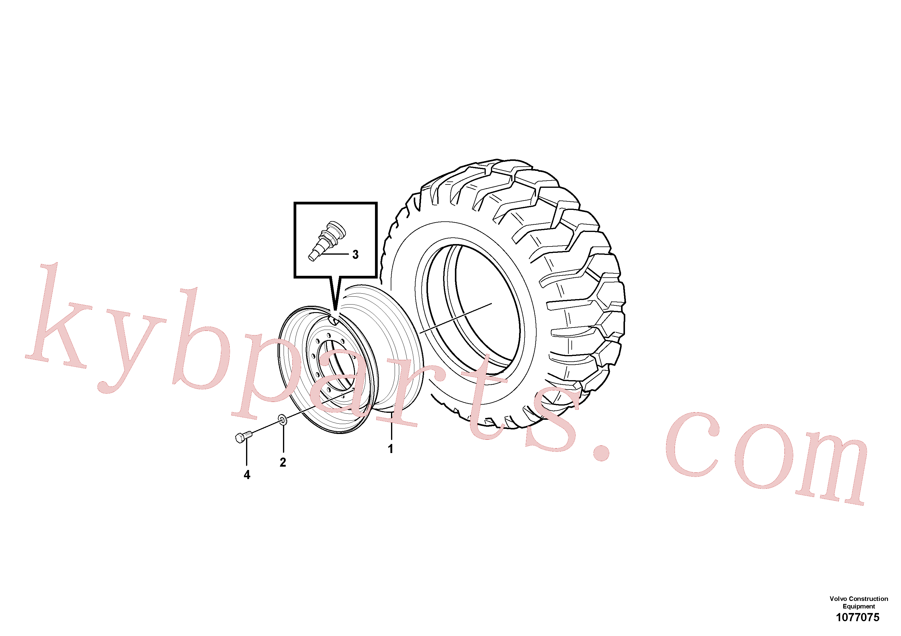 CH56445 for Volvo Wheels and rims(1077075 assembly)