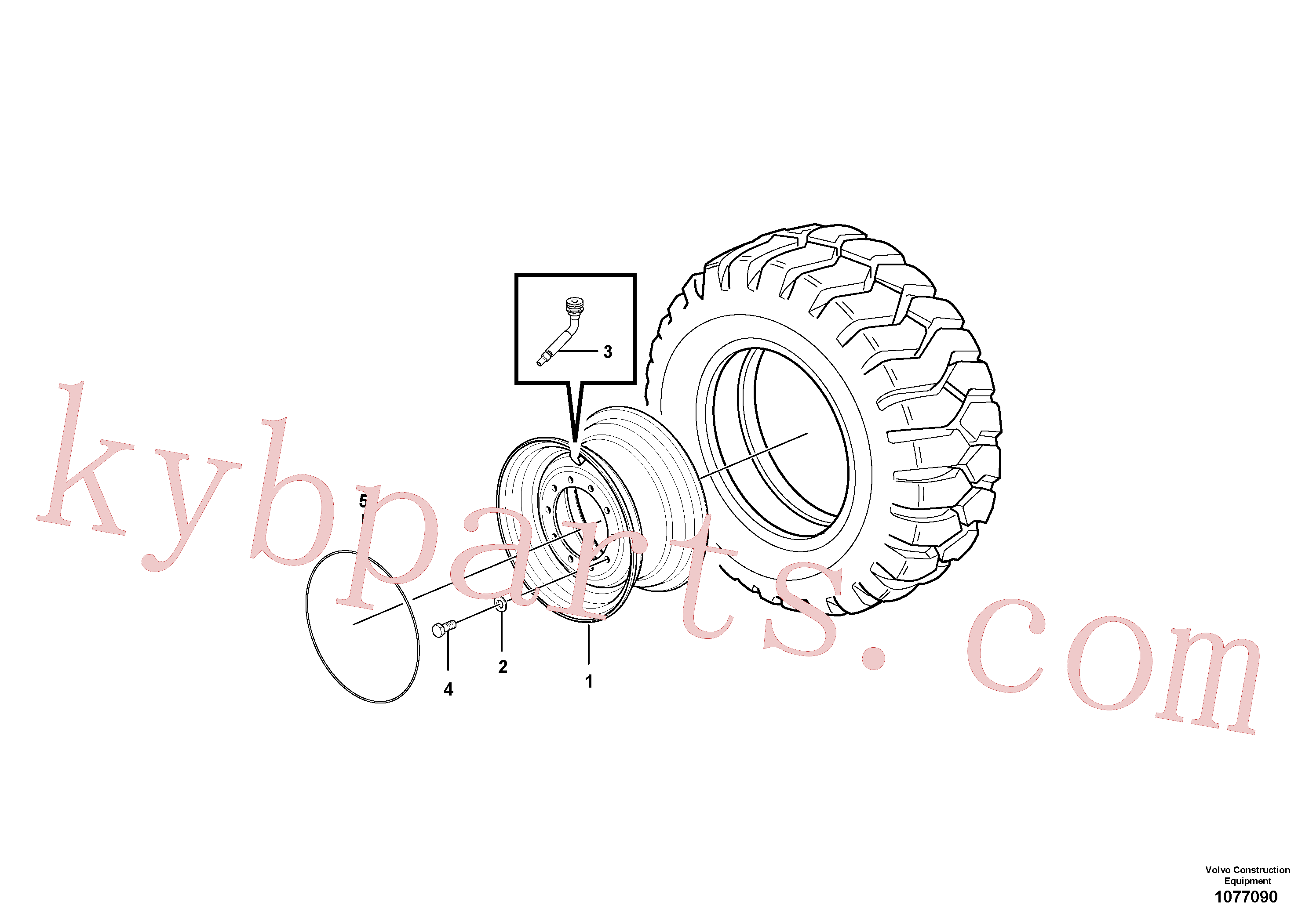 CH56445 for Volvo Wheels and rims(1077090 assembly)
