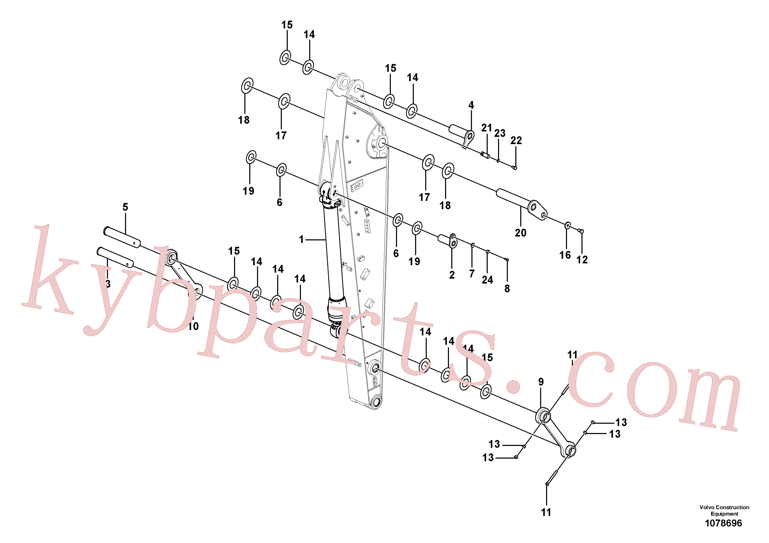 VOE14618711 for Volvo Links to dipper arm(1078696 assembly)