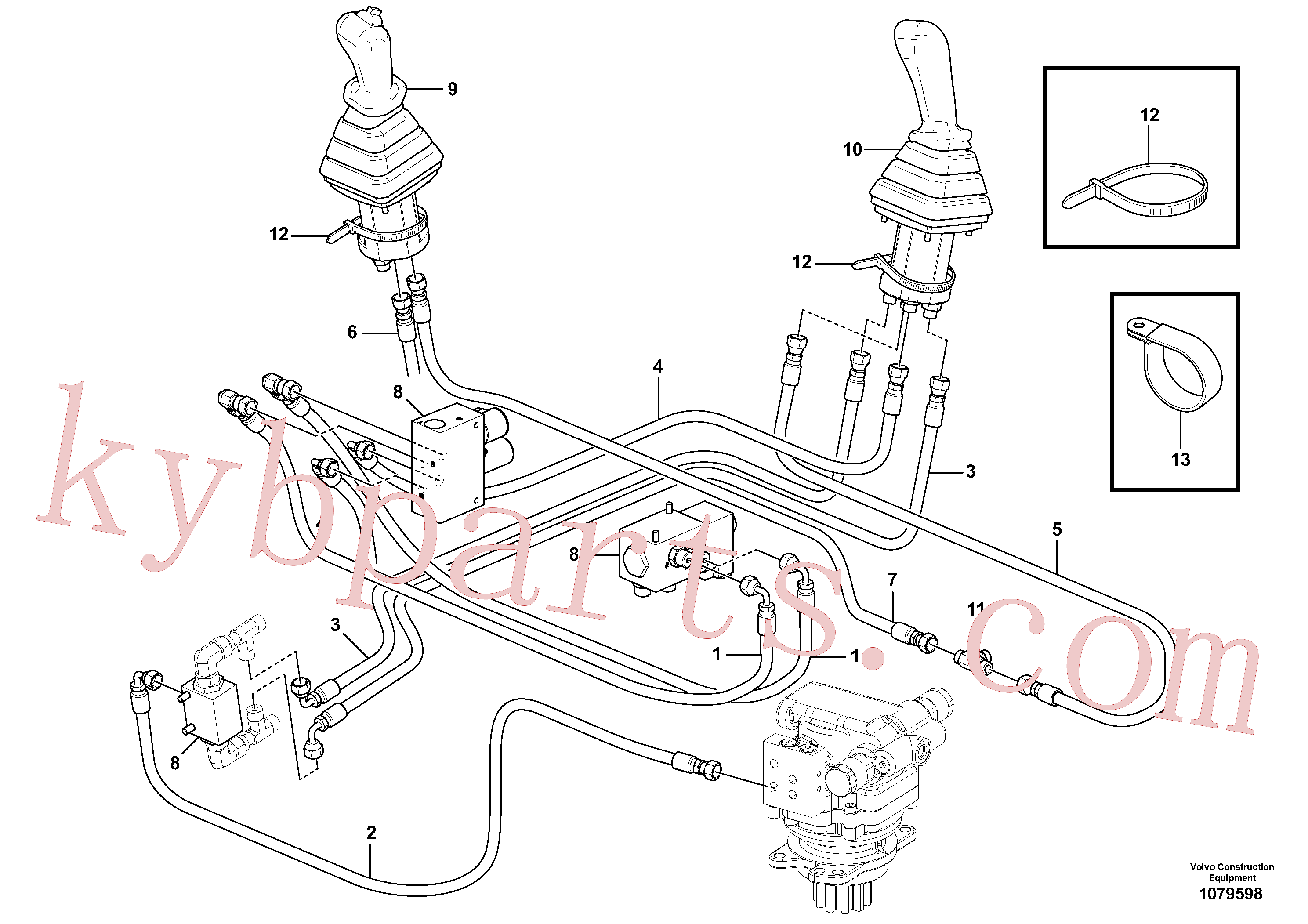 VOE937698 for Volvo Hydraulic circuit ( low pressure )(1079598 assembly)