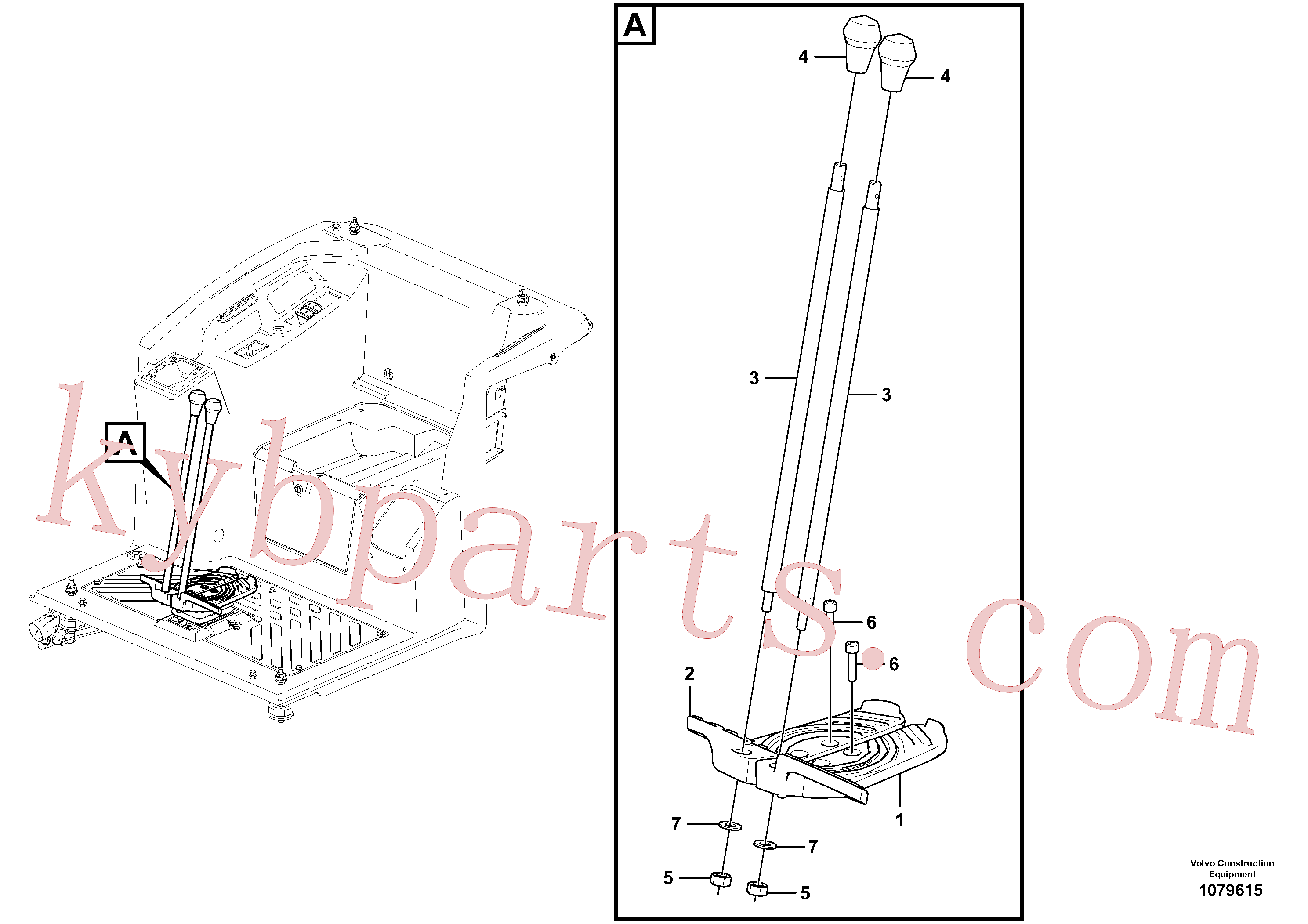 VOE15648669 for Volvo Control lever(1079615 assembly)
