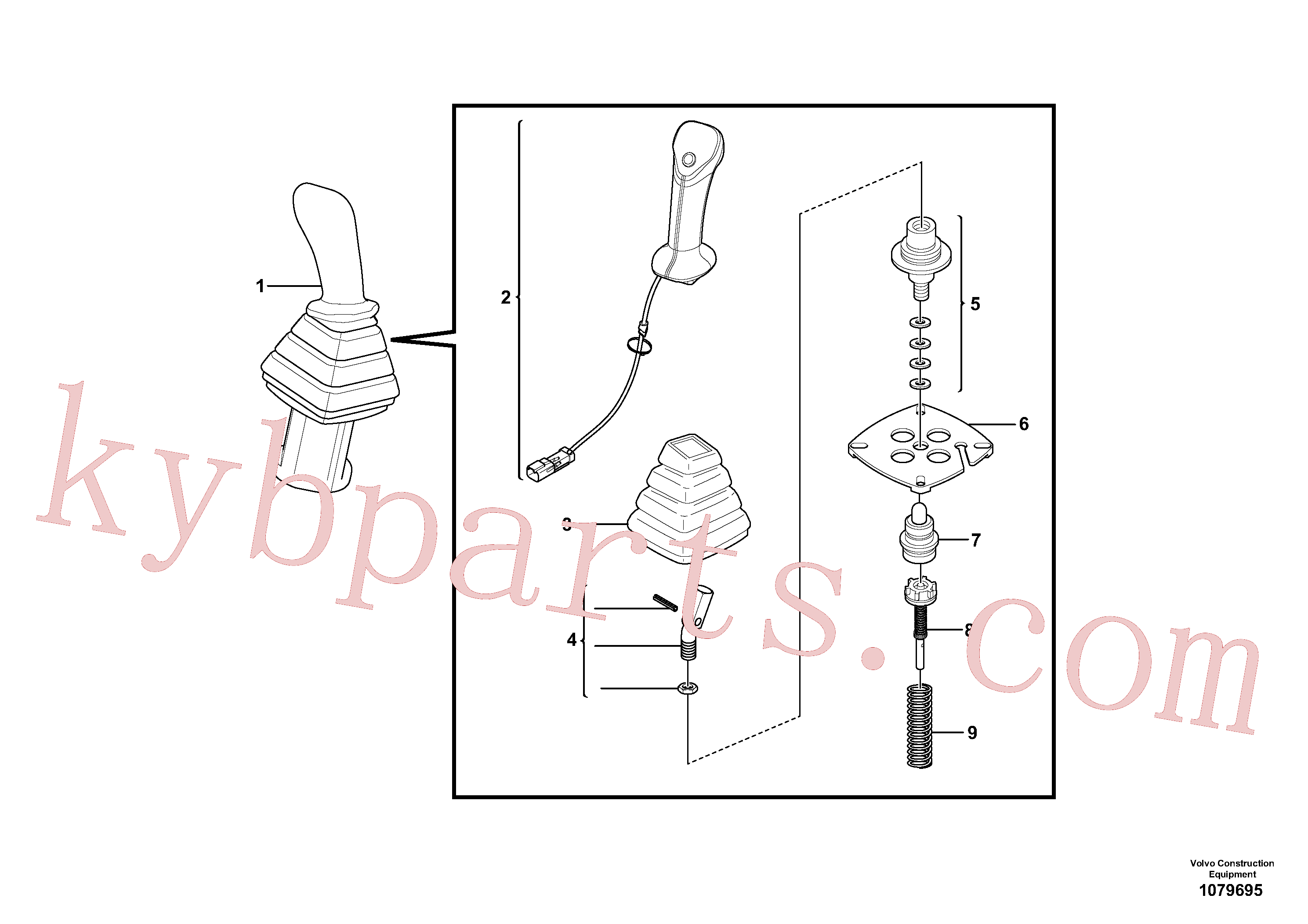 PJ7417469 for Volvo Control lever : dipper arm / slewing ( left )(1079695 assembly)