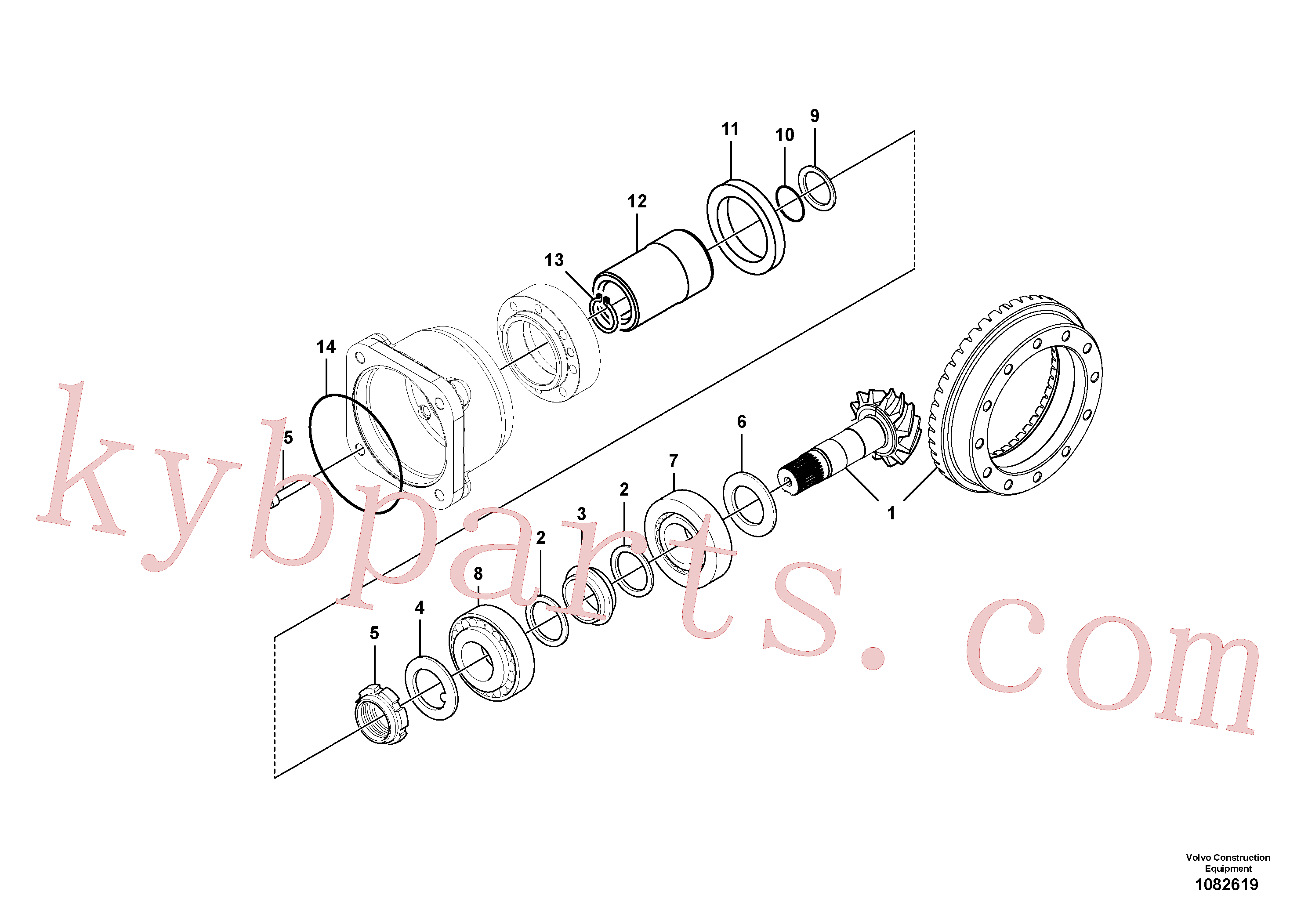 VOE11709288 for Volvo Pinion(1082619 assembly)