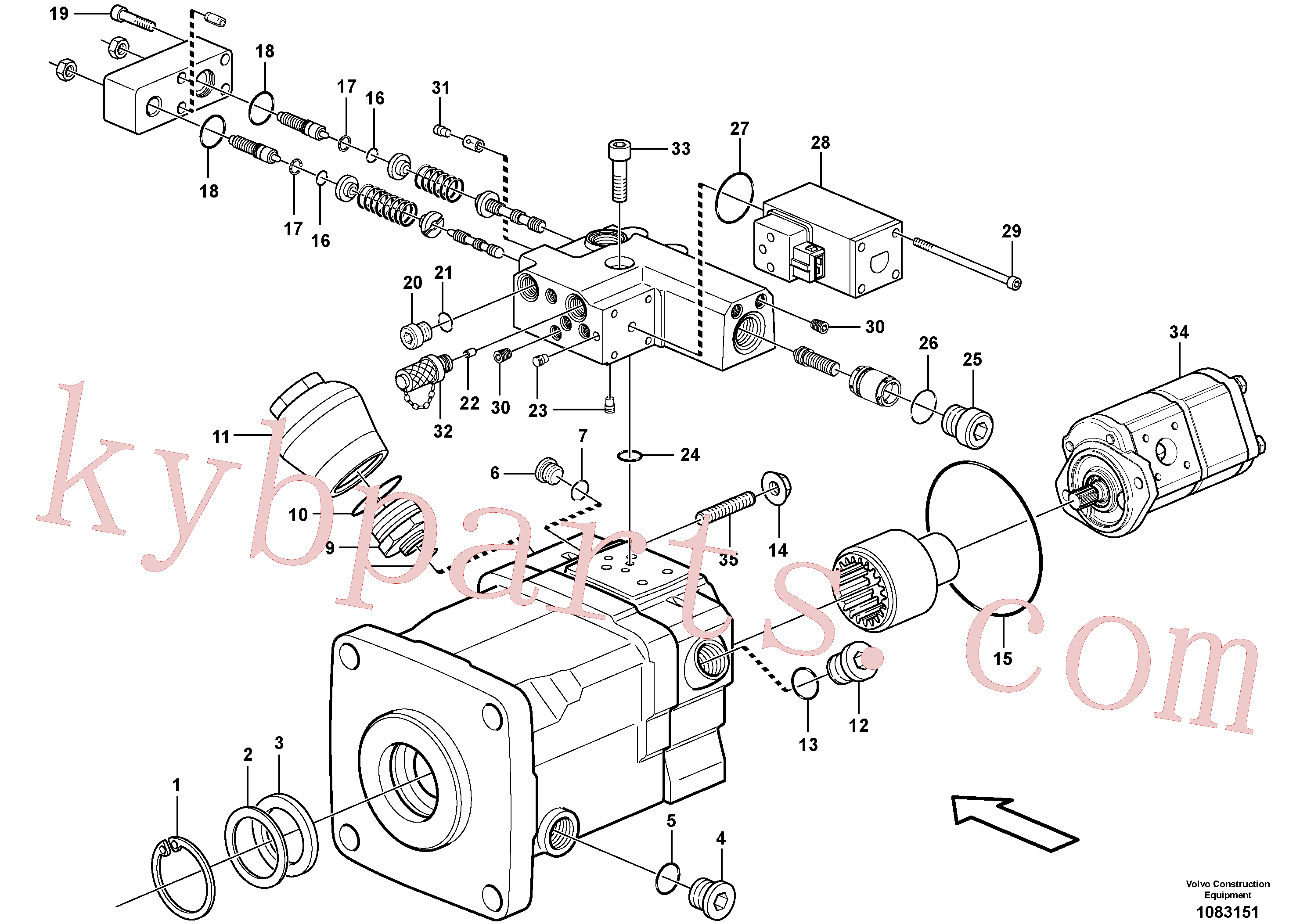 VOE11705612 for Volvo Pump(1083151 assembly)